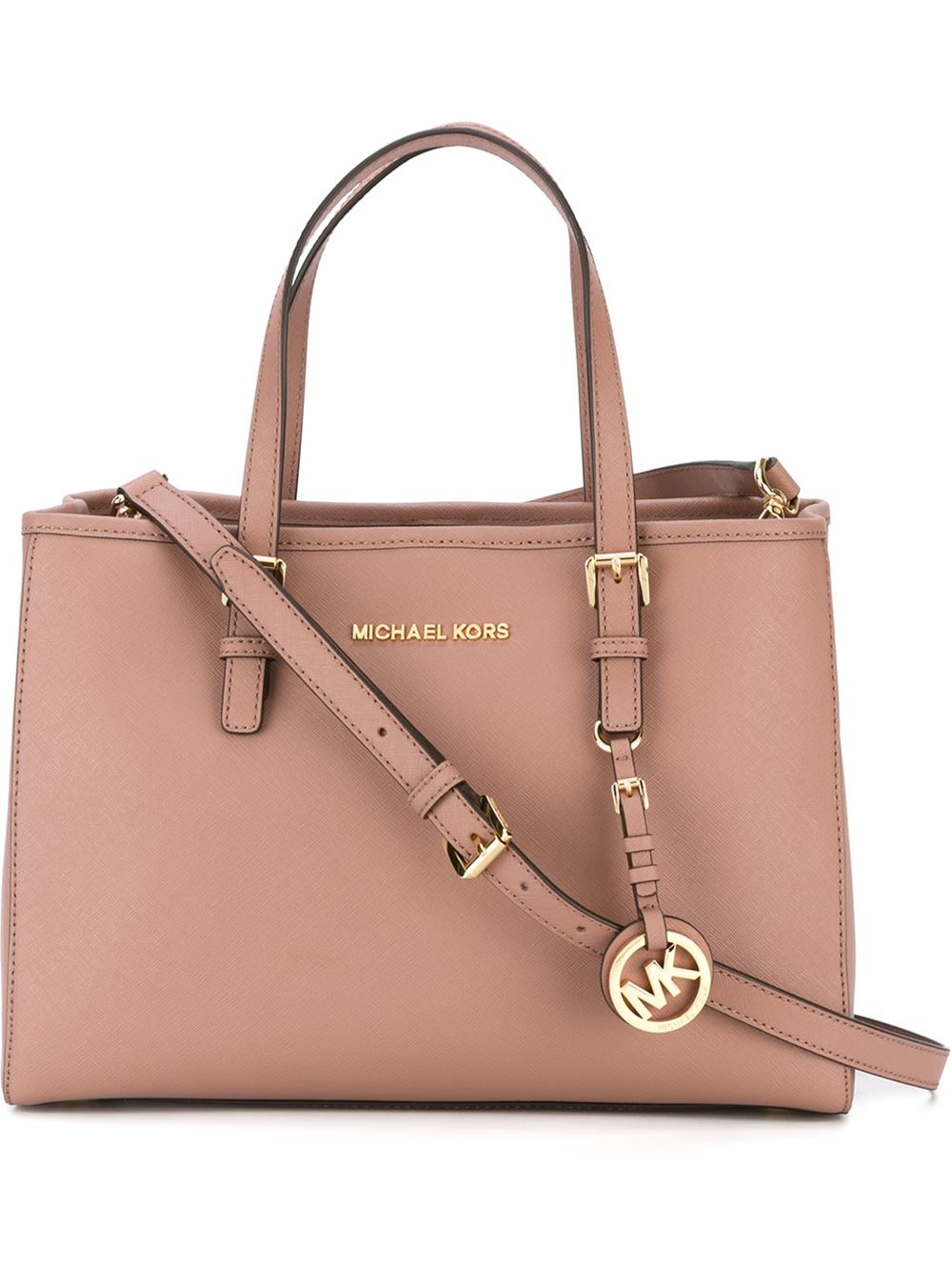 4d87bc71a8b0 Lyst - MICHAEL Michael Kors  jet Set Travel  Tote in Pink