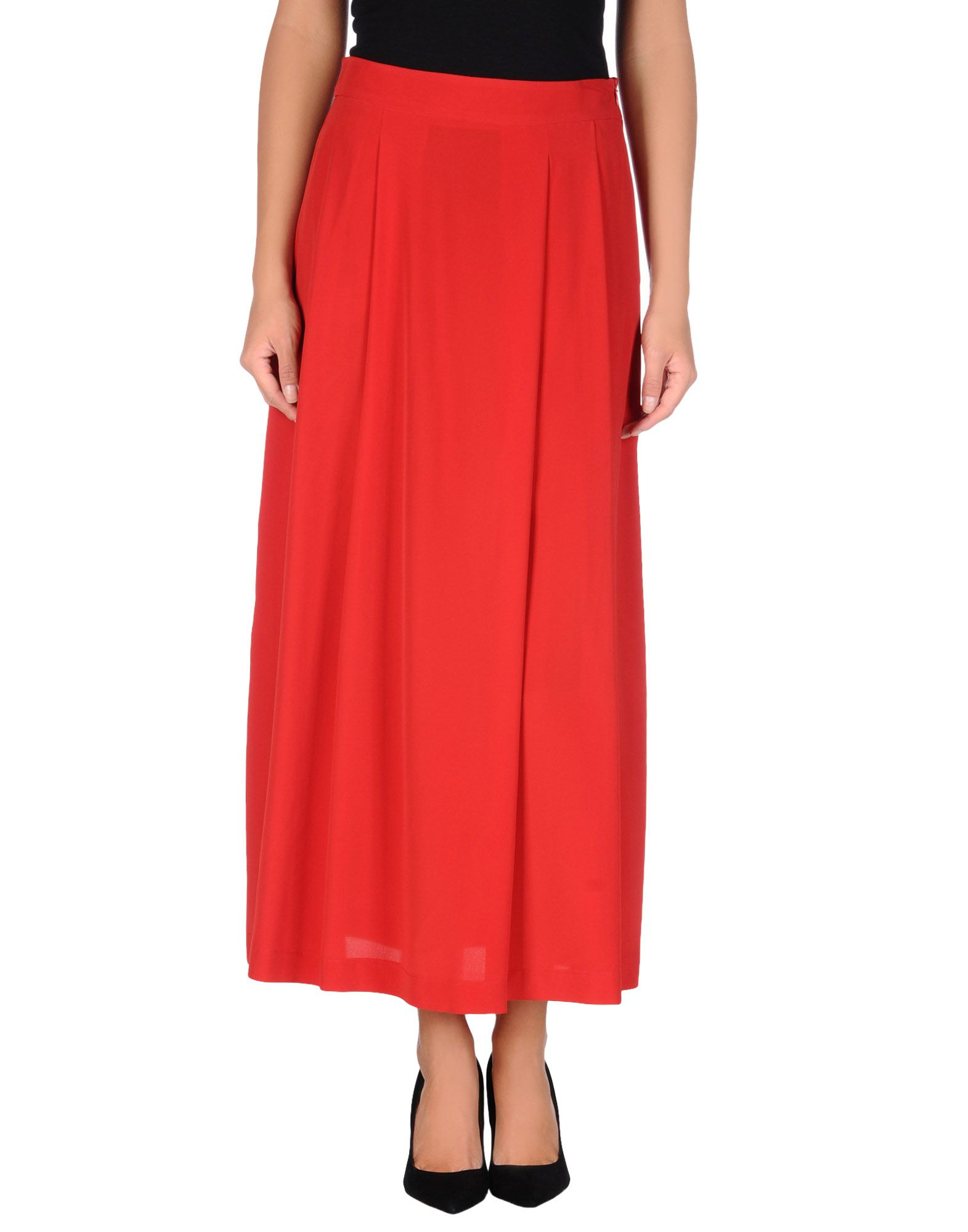 Love moschino Long Skirt in Red | Lyst