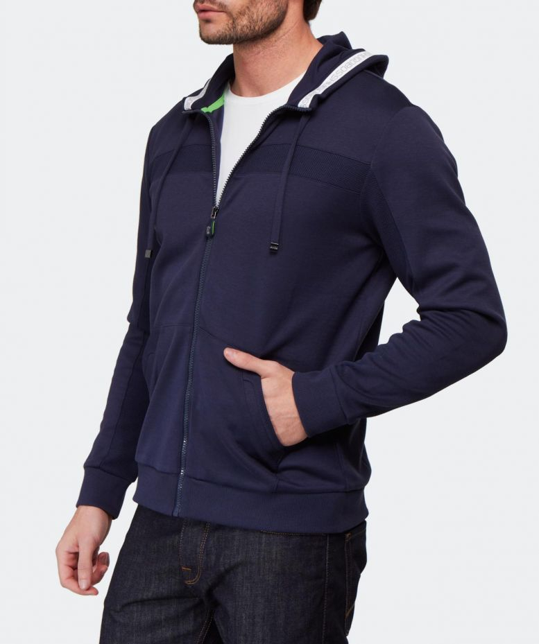 e77aed59 BOSS Green Saggy Hoodie in Blue for Men - Lyst