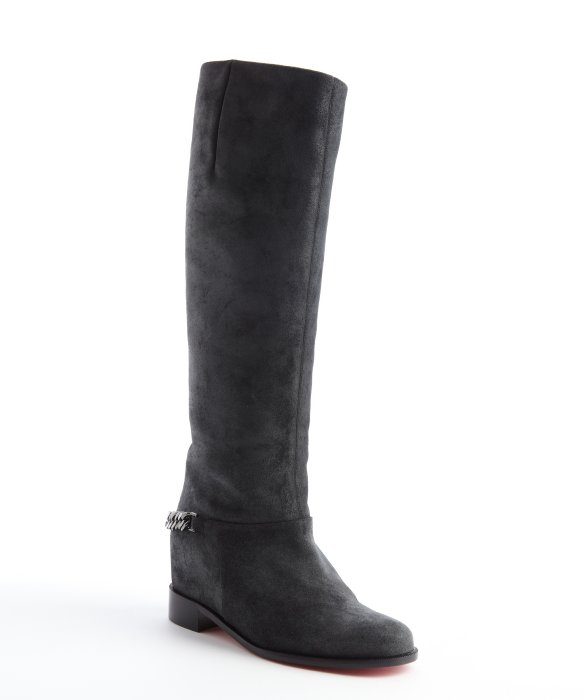 replica shoes christian louboutin - christian louboutin boots Black leather chain-link detail | The ...