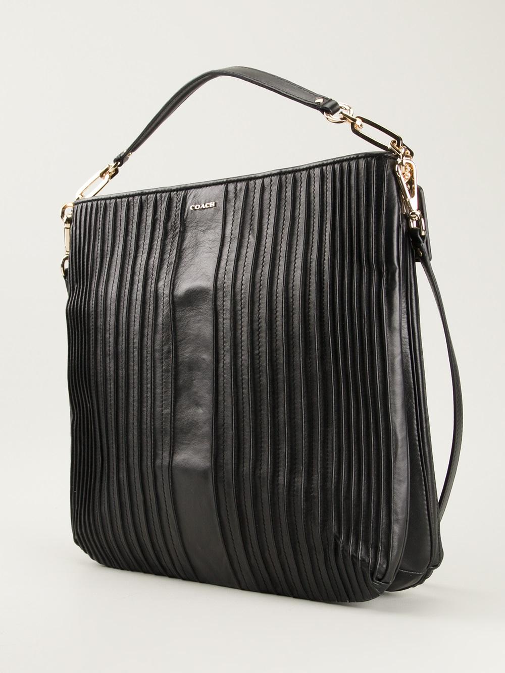 6a4eb4add03a Coach Madison Hobo Shoulder Bag in Black | Lyst. Saks Fifth Avenue Chanel  Bags - Coach ...