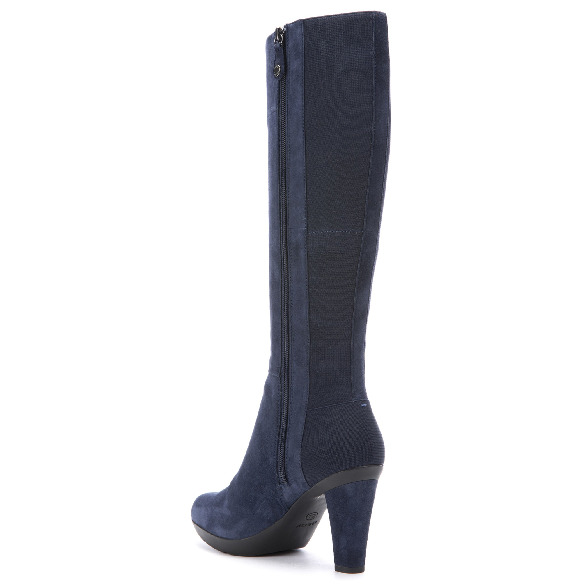 a190f9f1b6a Geox Inspiration High Heeled Knee High Boots in Blue - Lyst
