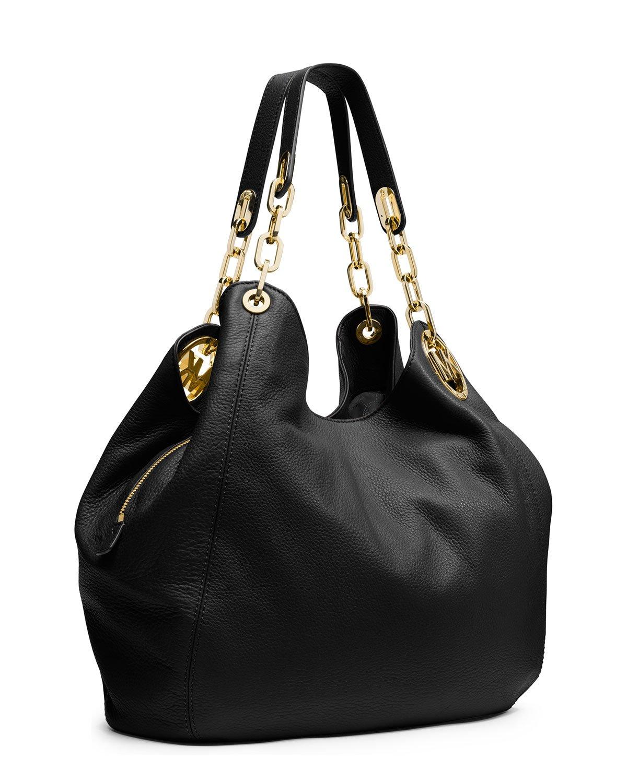 michael michael kors fulton large shoulder tote bag in black lyst. Black Bedroom Furniture Sets. Home Design Ideas