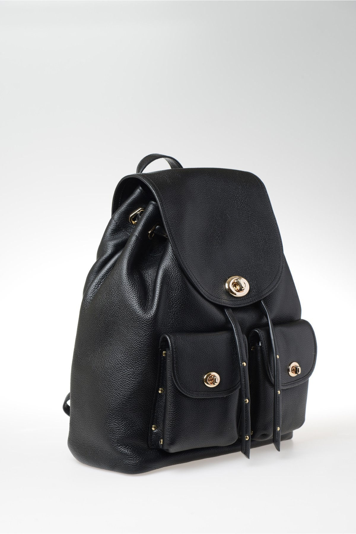 Coach Leather Backpack With External Pockets in Black | Lyst