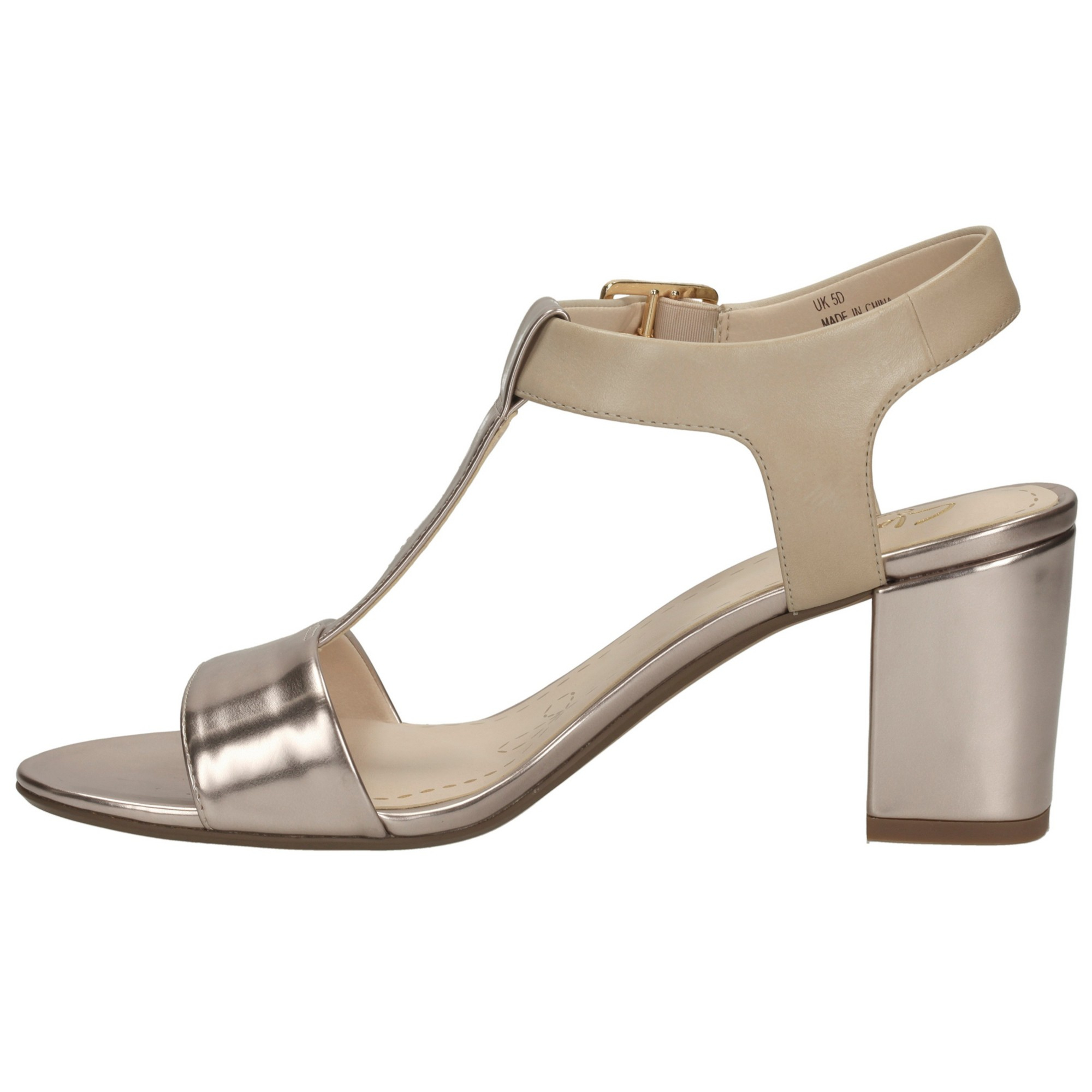 0ffe5a3d700 Clarks Smart Deva Leather Sandals in Metallic - Lyst