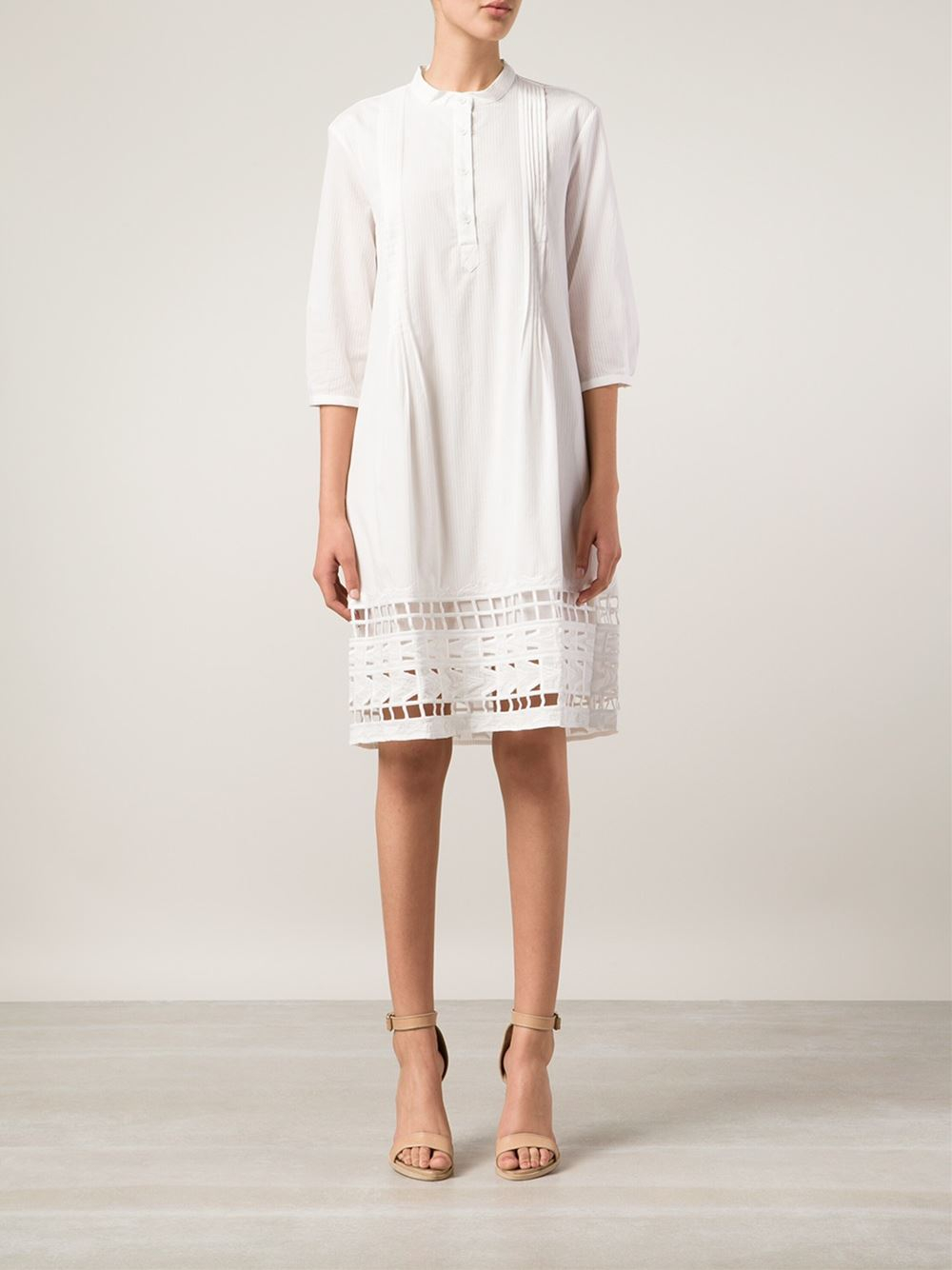 le bon marche x the webster sea embroidered shirt dress in