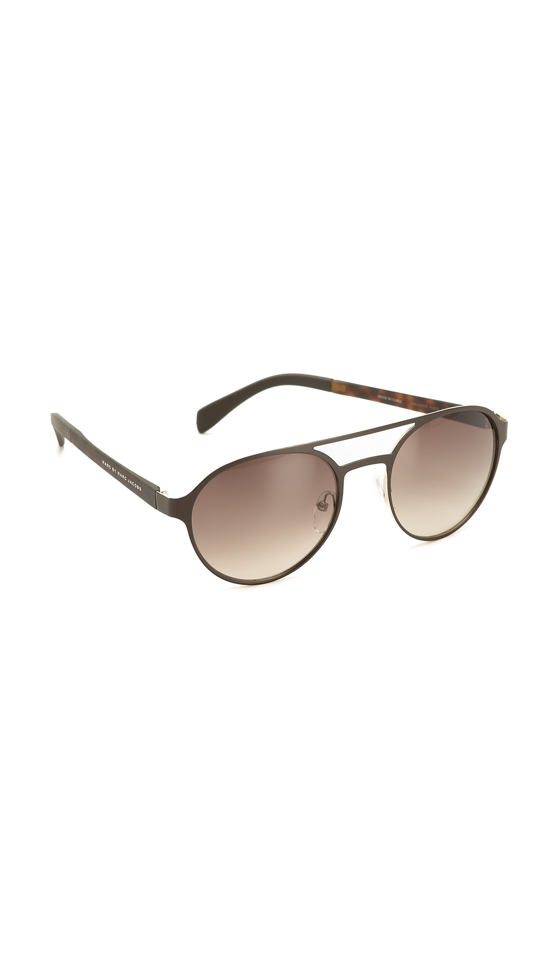2526b377e4 Marc By Marc Jacobs Round Aviator Sunglasses - Brown brown Gradient ...