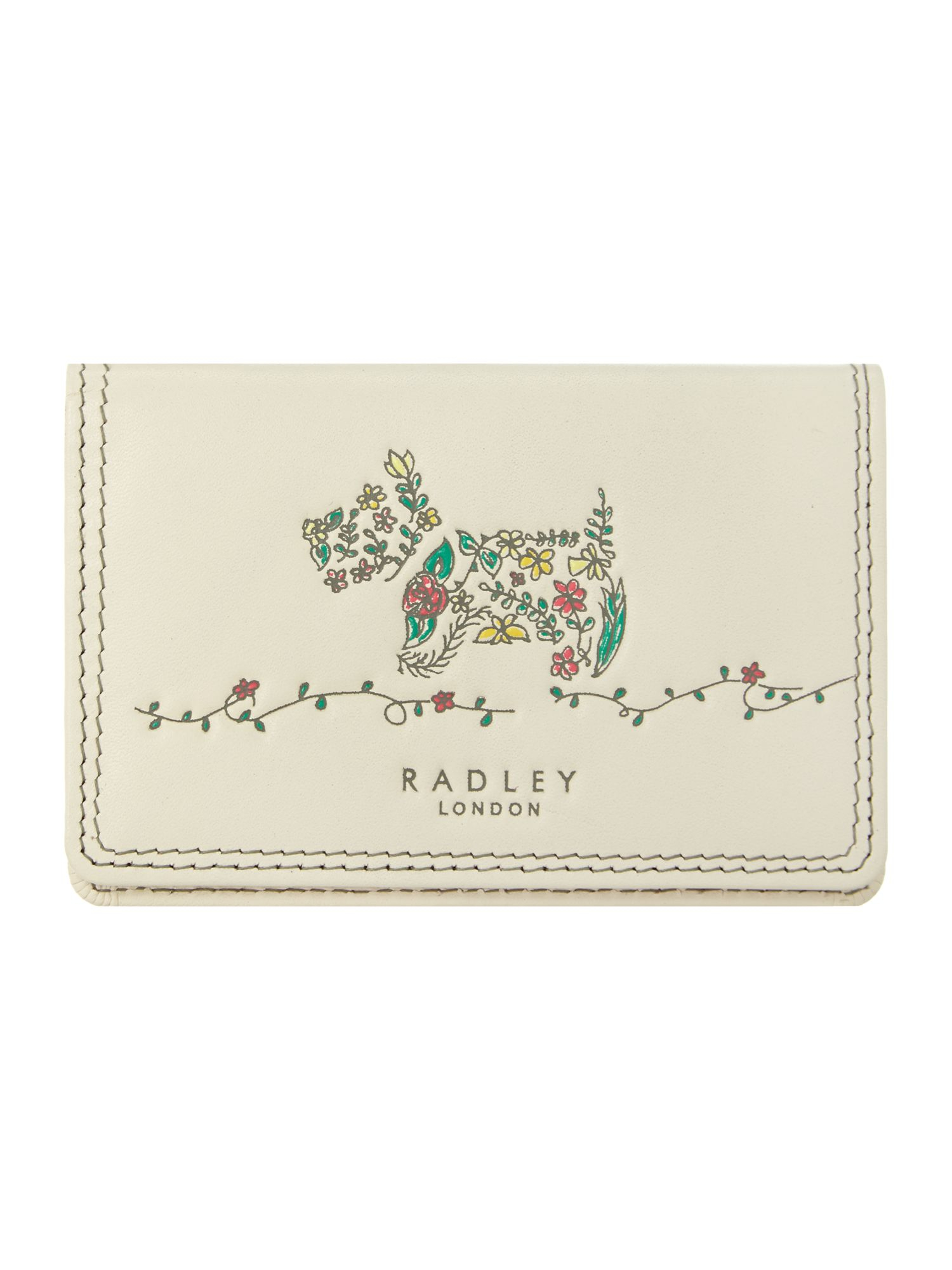 Radley Rosemary Gardens Ivory Credit Card Holder in White - Lyst