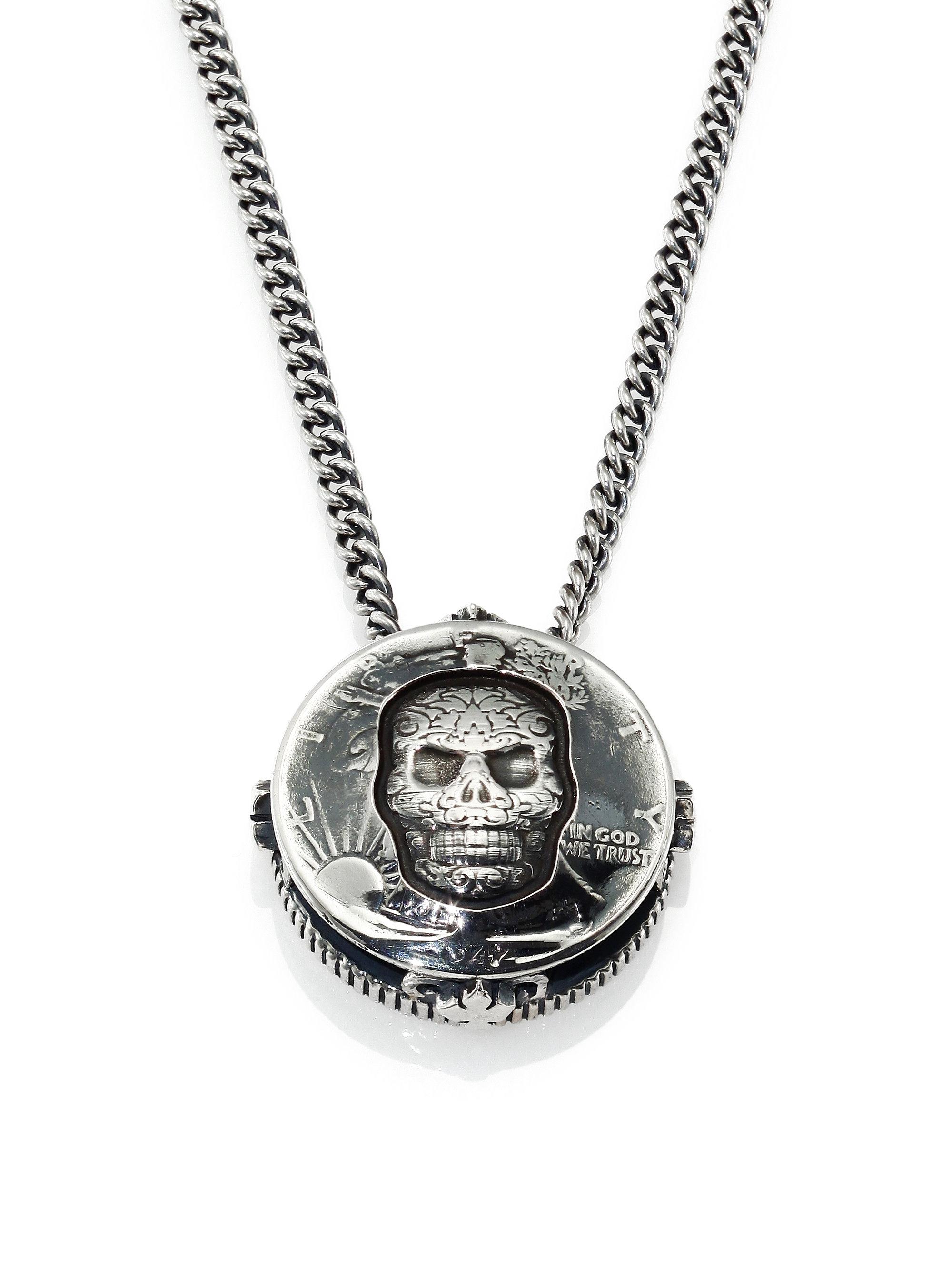 Lyst King Baby Studio Half Dollar Skull Pendant Necklace