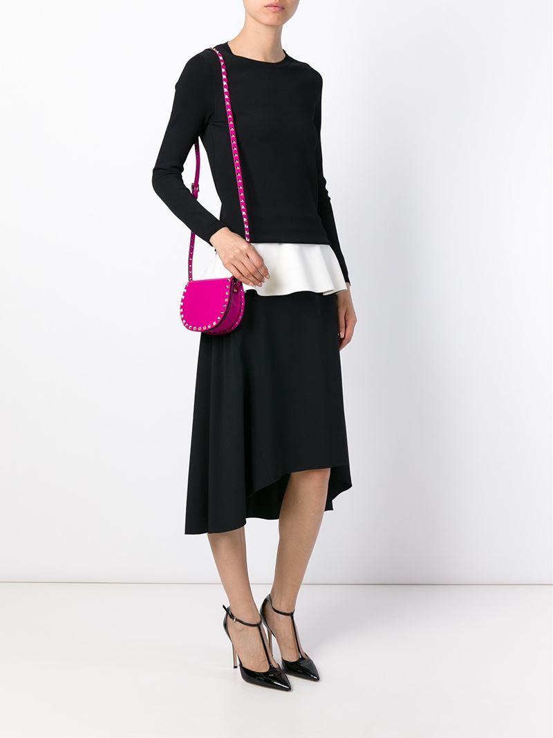 Garavani Rockstud crossbody bag - Pink & Purple Valentino z6vdKlStJ