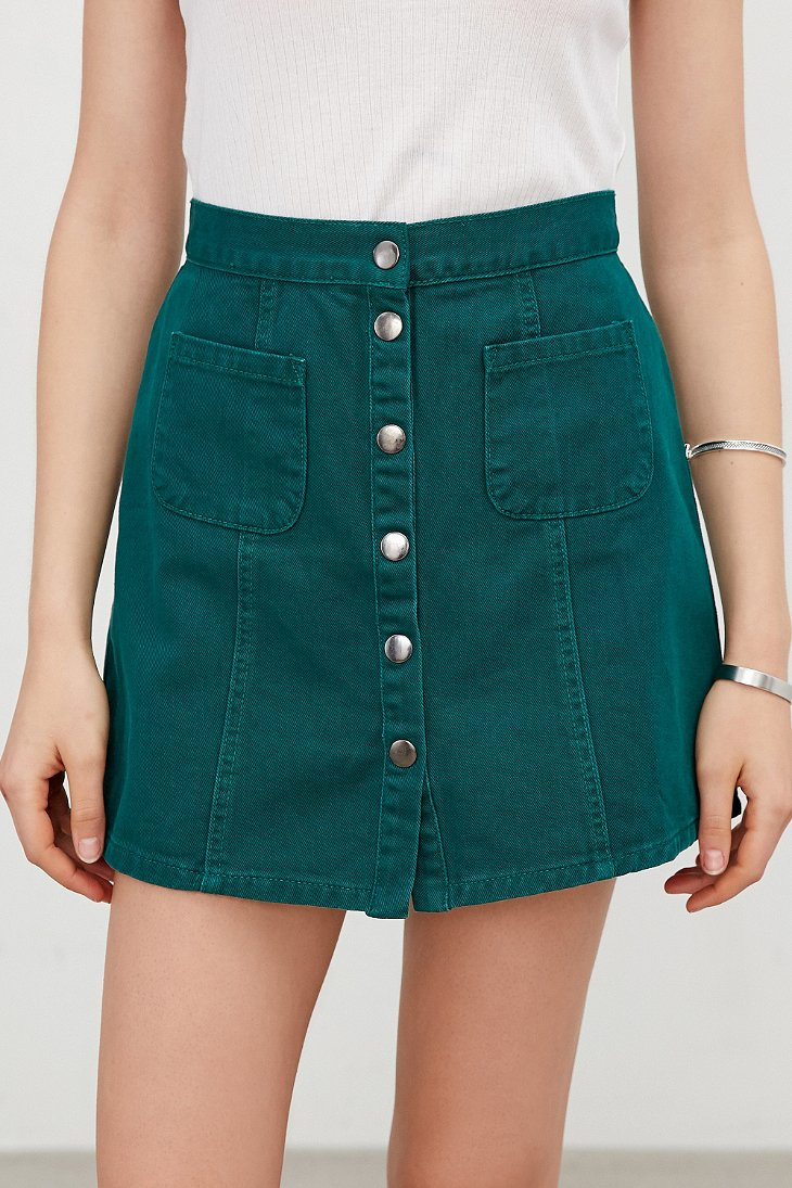 Images of Green Denim Skirt - The Fashions Of Paradise
