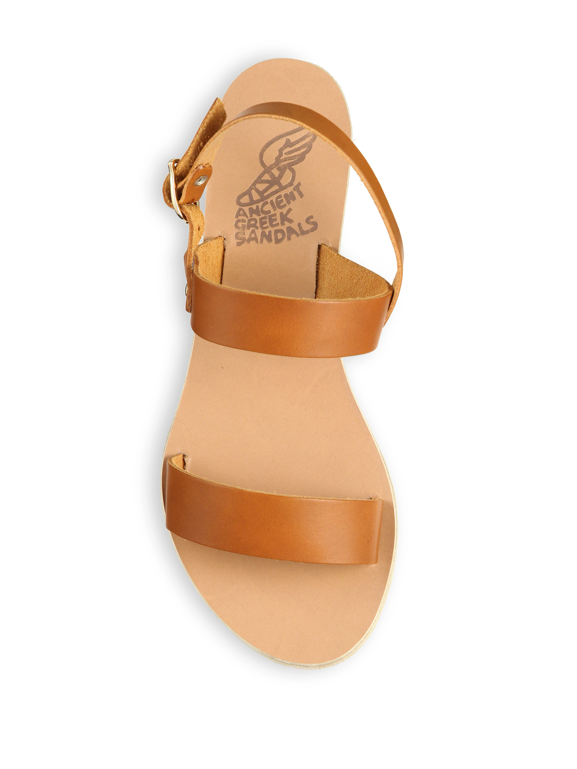 8644bff6fbb Lyst - Ancient Greek Sandals Clio Leather Wedge Sandals in Brown