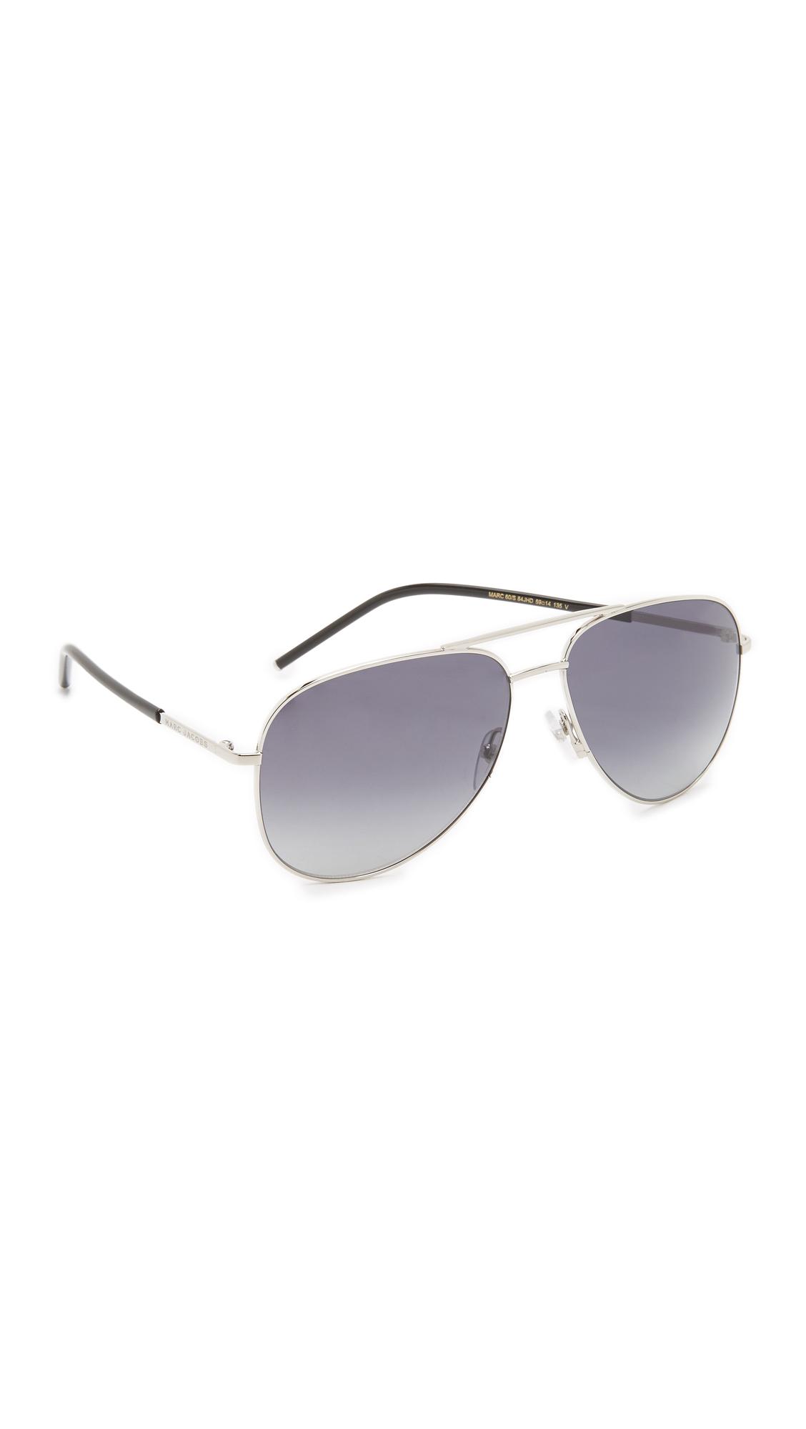 9e0ddfbaa59 Lyst - Marc Jacobs Easy To Wear Aviator Sunglasses in Blue