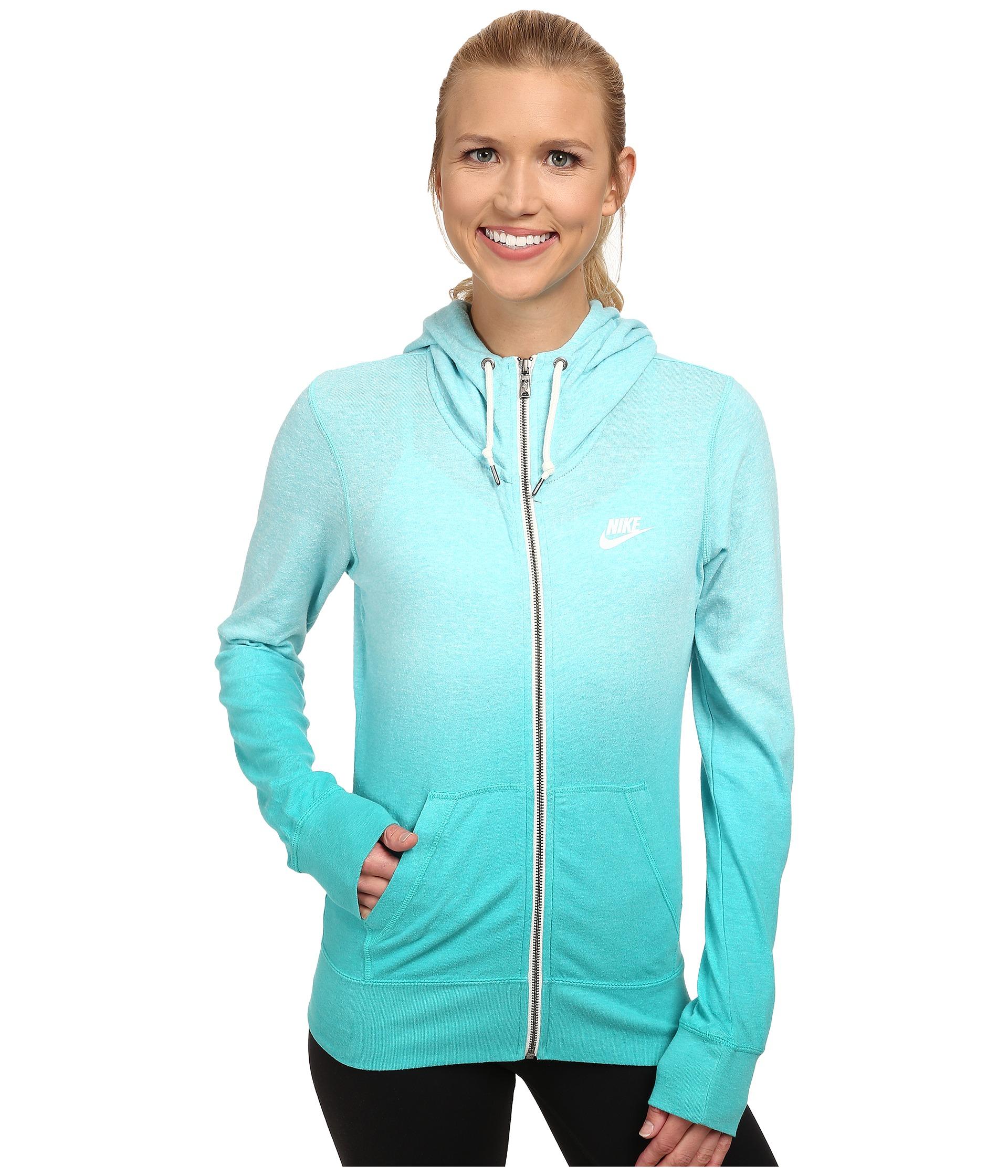 8a4ff077e0b6 Lyst - Nike Gym Vintage Full-zip Hoodie - Dip Dye in Blue