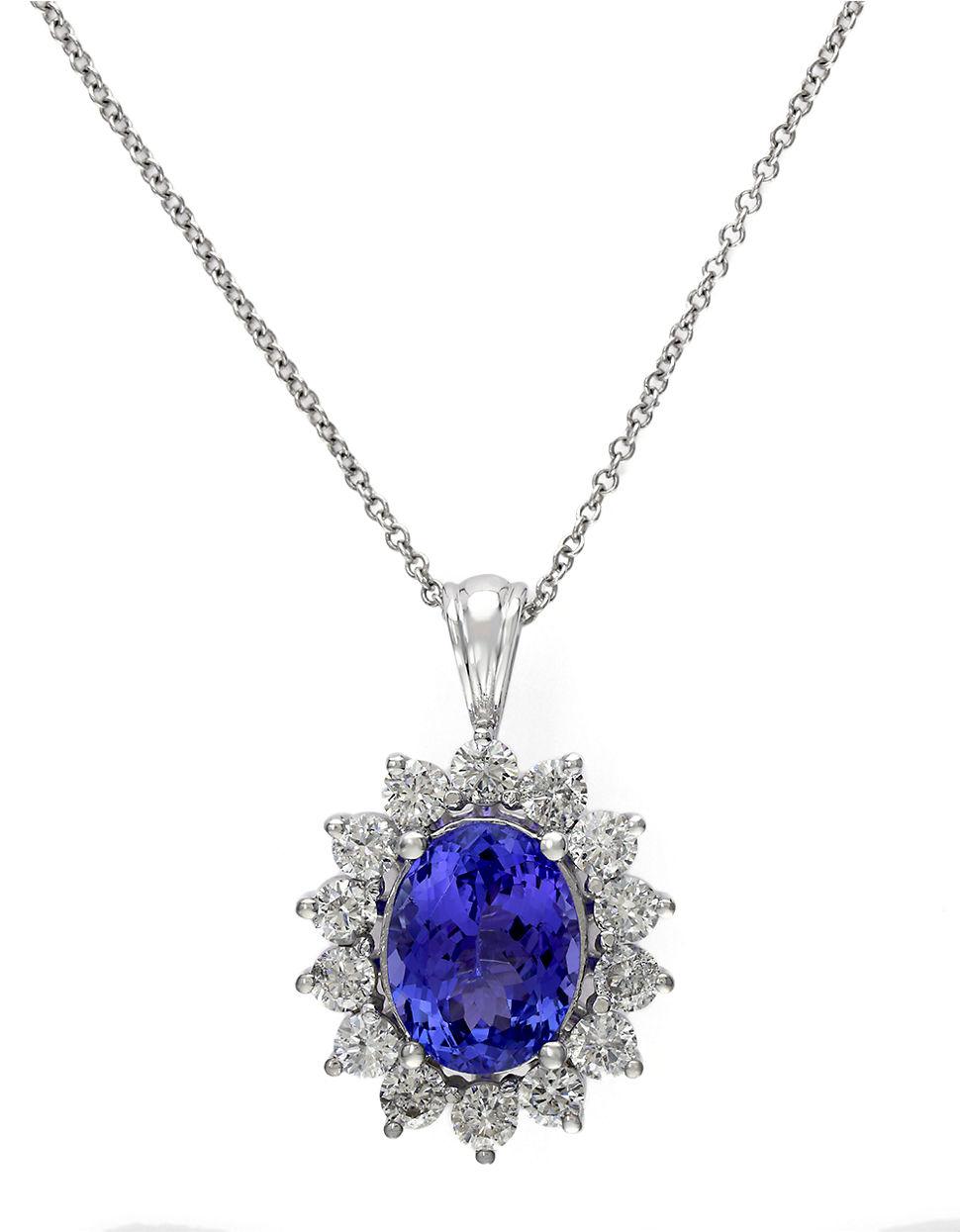 Effy Aquarius 14k White Gold Aquamarine And Diamond