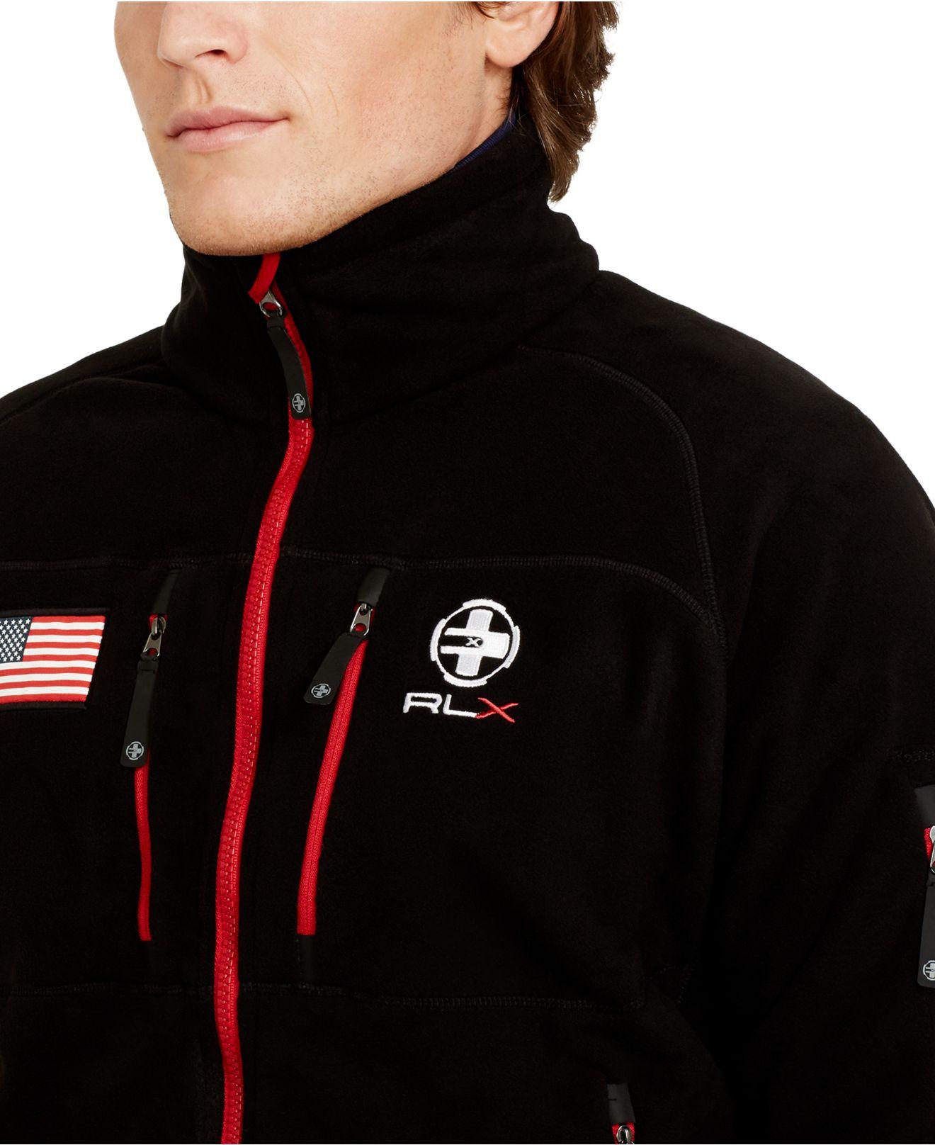 Polo ralph lauren Rlx Snow Polo Fleece Jacket in Black for Men | Lyst