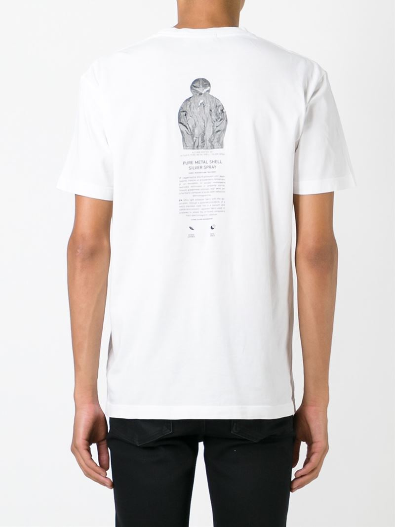Lyst Stone Island Back Print T Shirt In White For Men
