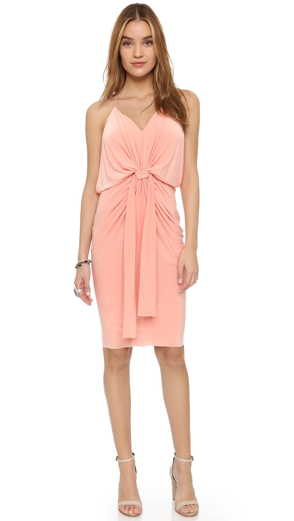 Blush Pink Knee Length Dress