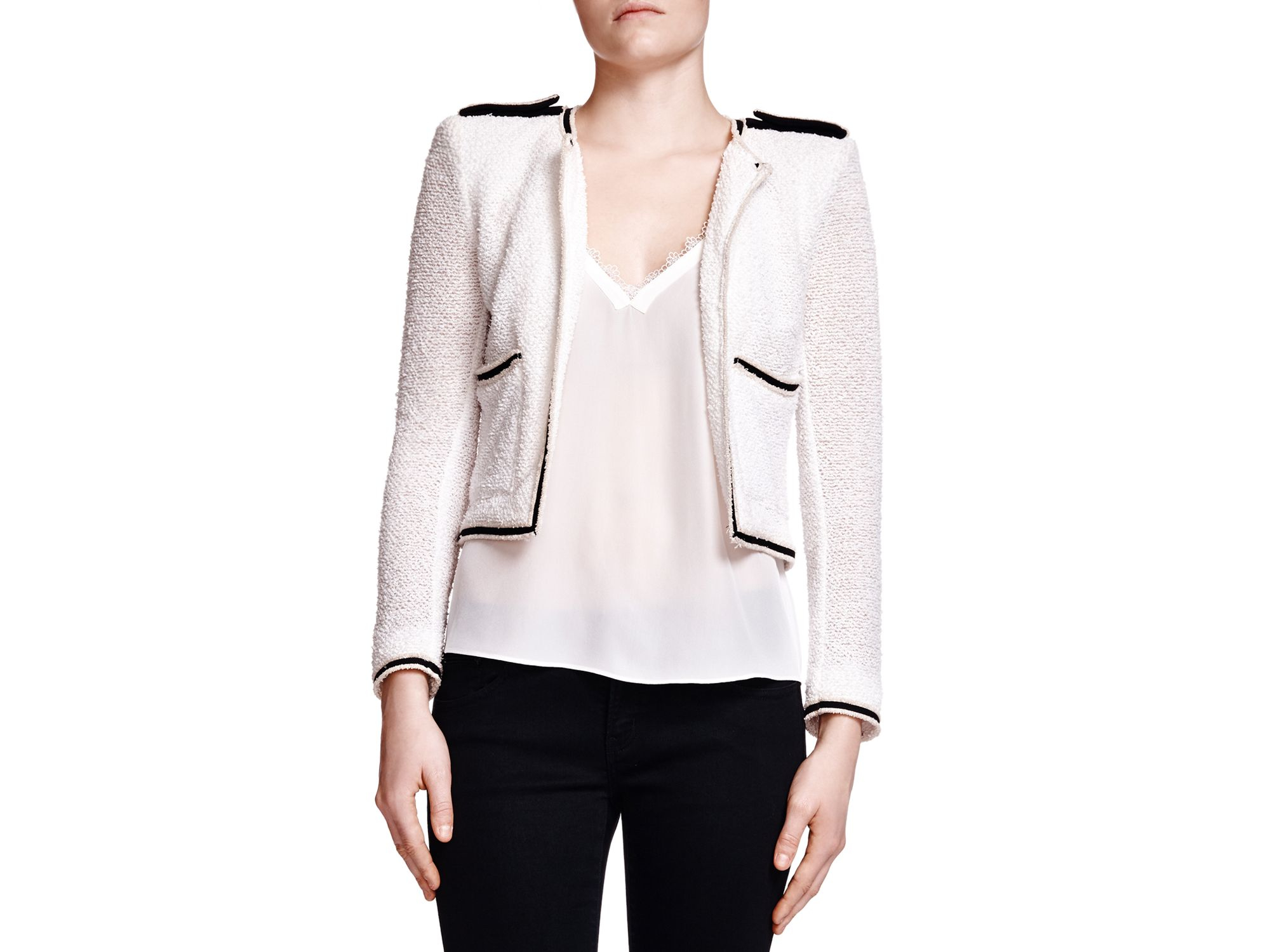 085e6014cf The Kooples Summer Lace Jacket in White - Lyst
