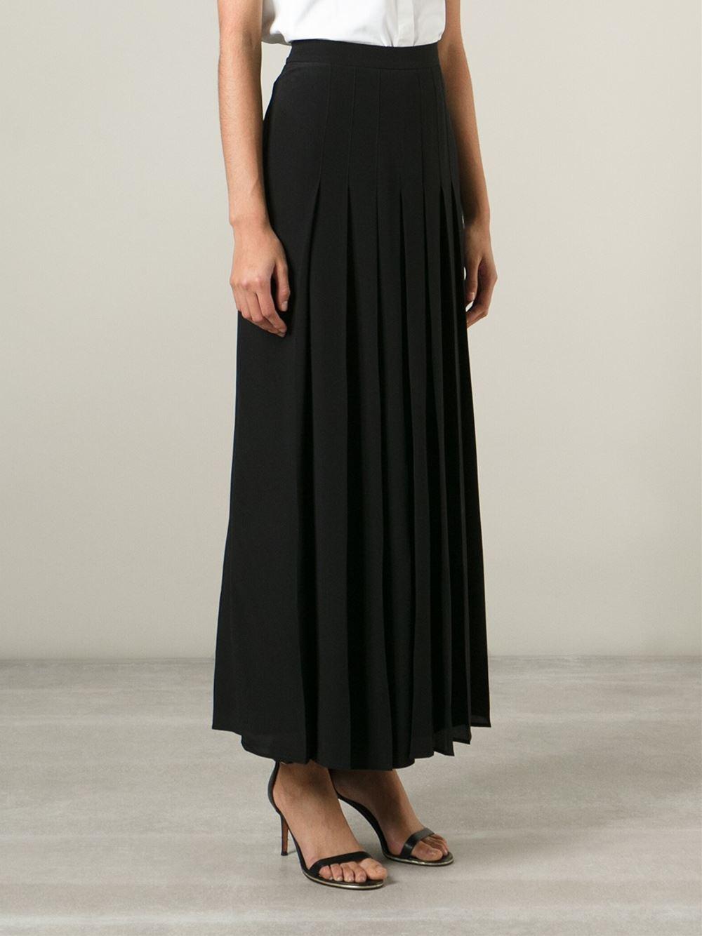 Pleated Skirt Long