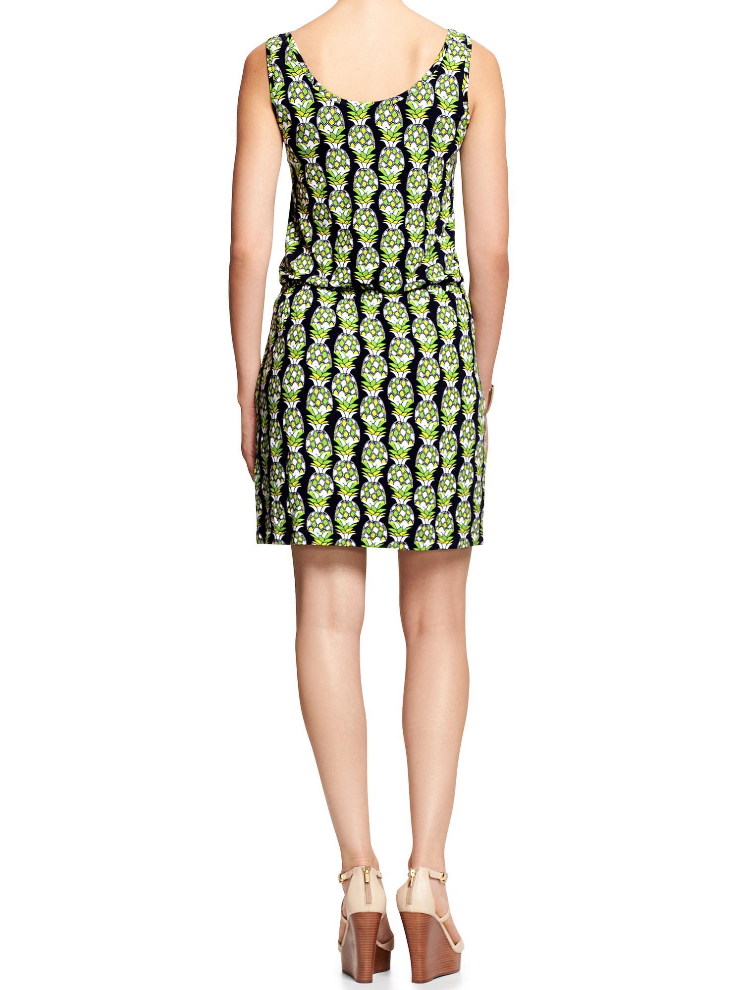 Banana Republic Factory Knit Tank Dress In Green Cool