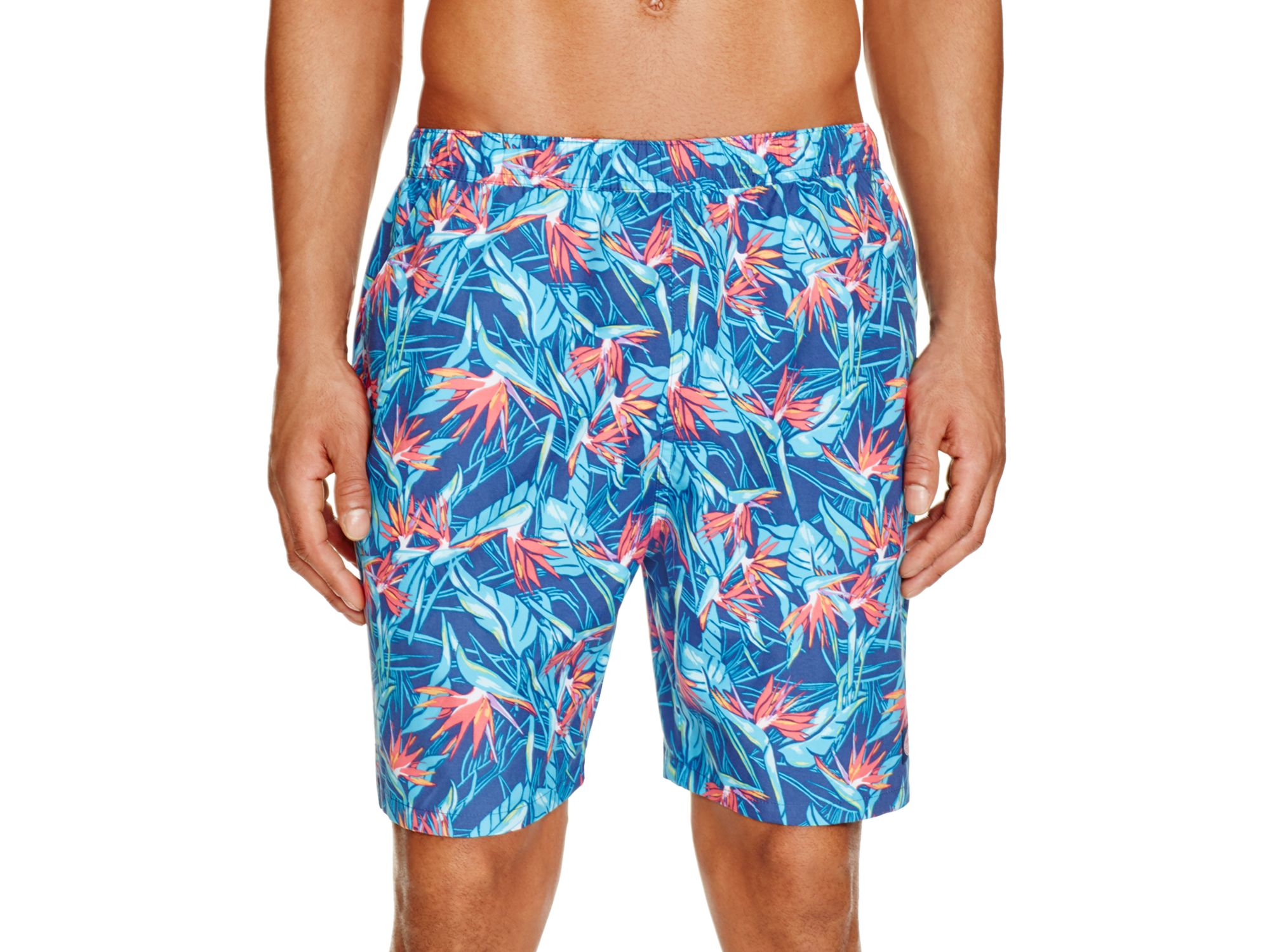 38926a46a8703 Vineyard Vines Bird Of Paradise Floral Swim Trunks in Blue for Men ...