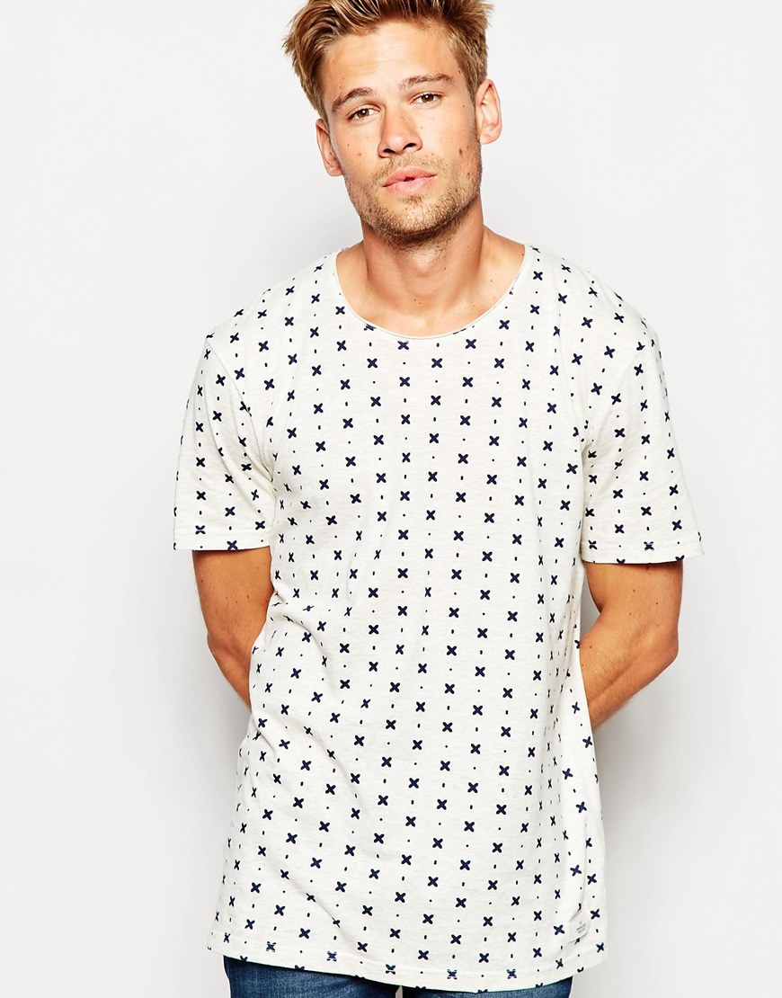 Lyst esprit t shirt with all over print in white for men for All over printing t shirts