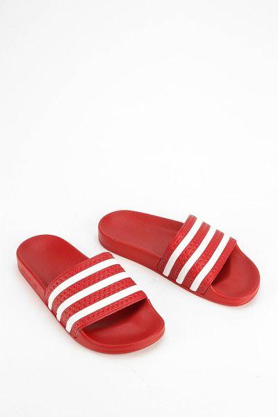 Adidas Originals X Uo Scarlet Adilette Pool Slide Women S Sandal In Red