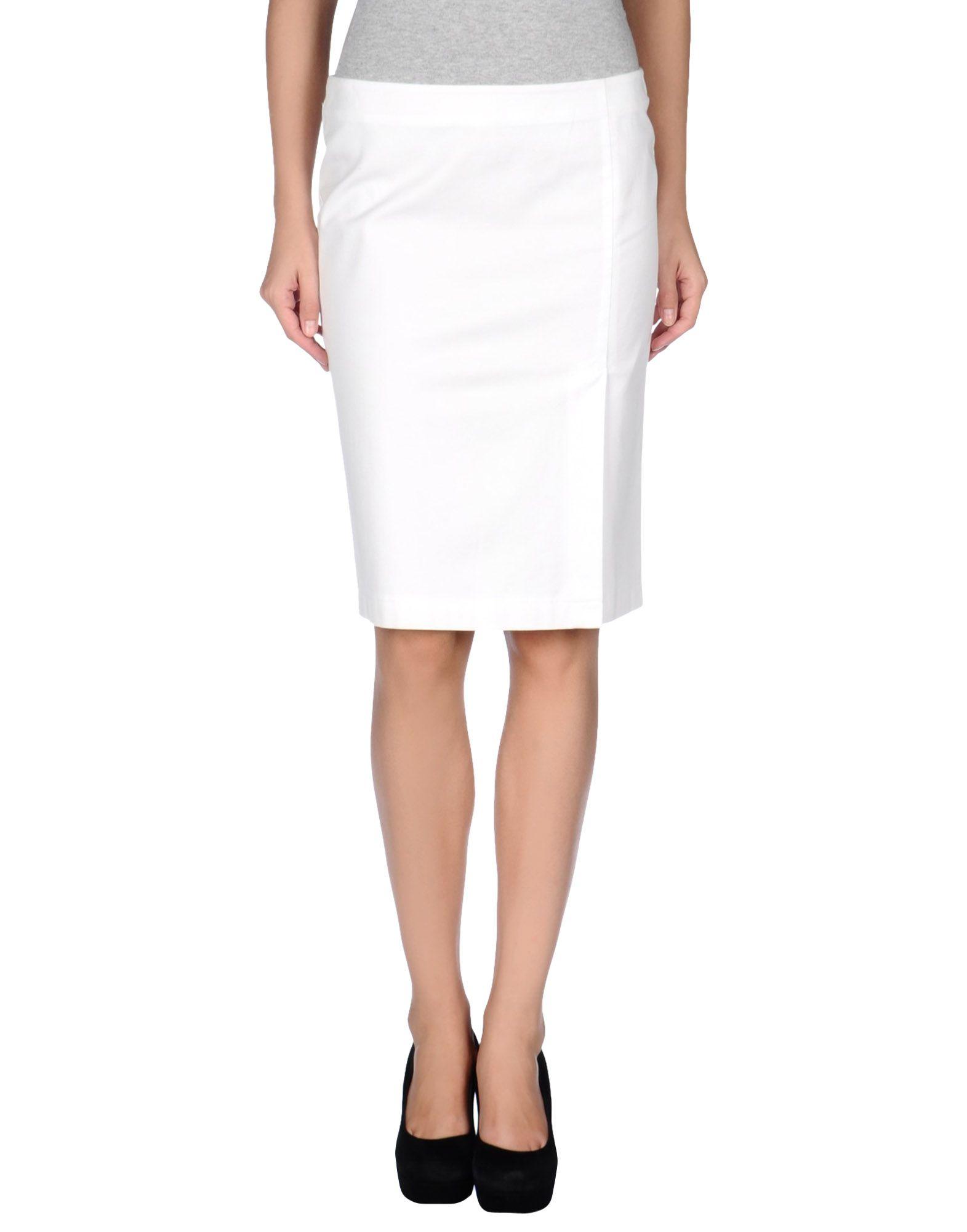 armani knee length skirt in white lyst
