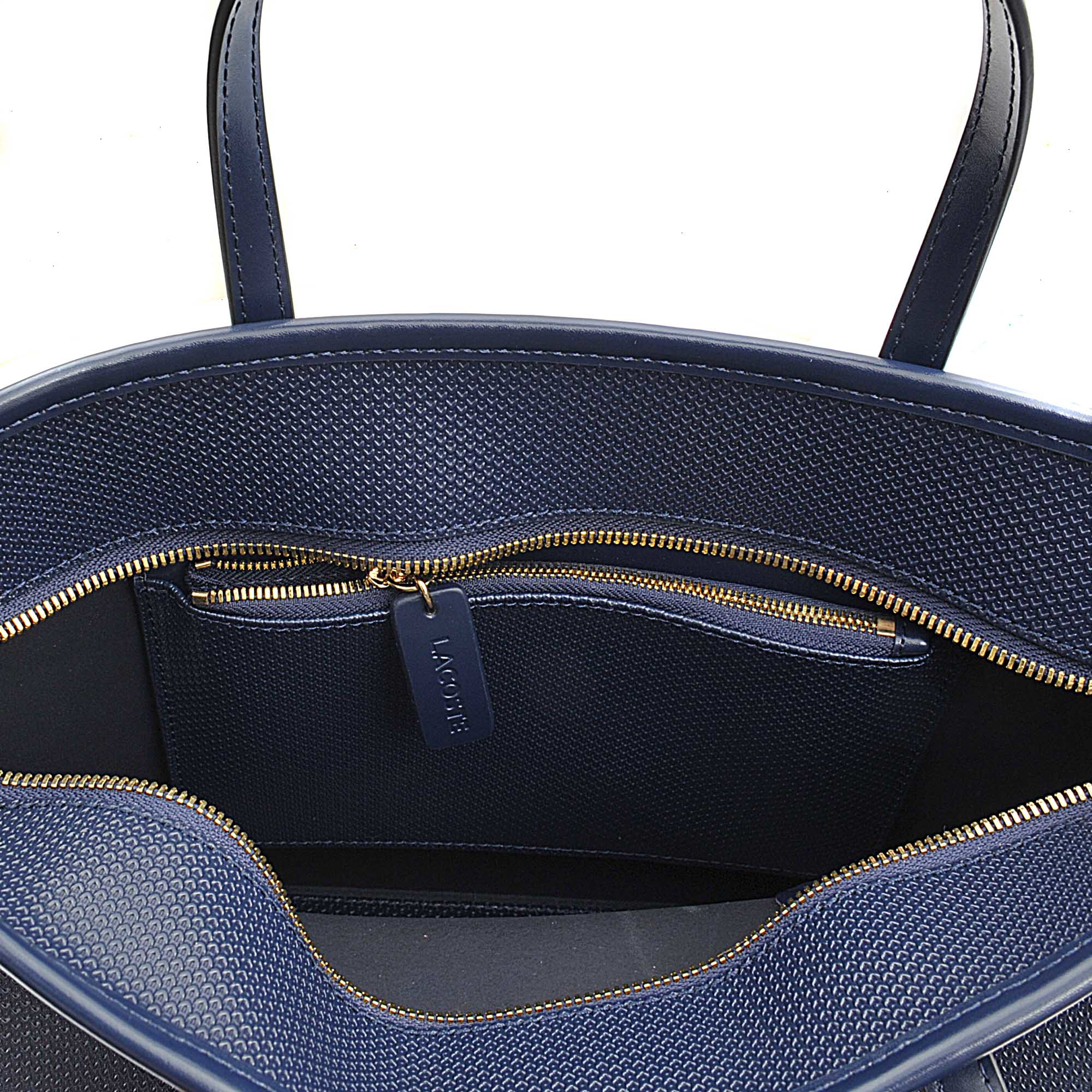 d47cfb91843 Lacoste Chantaco Small Shopping Tote in Blue - Lyst