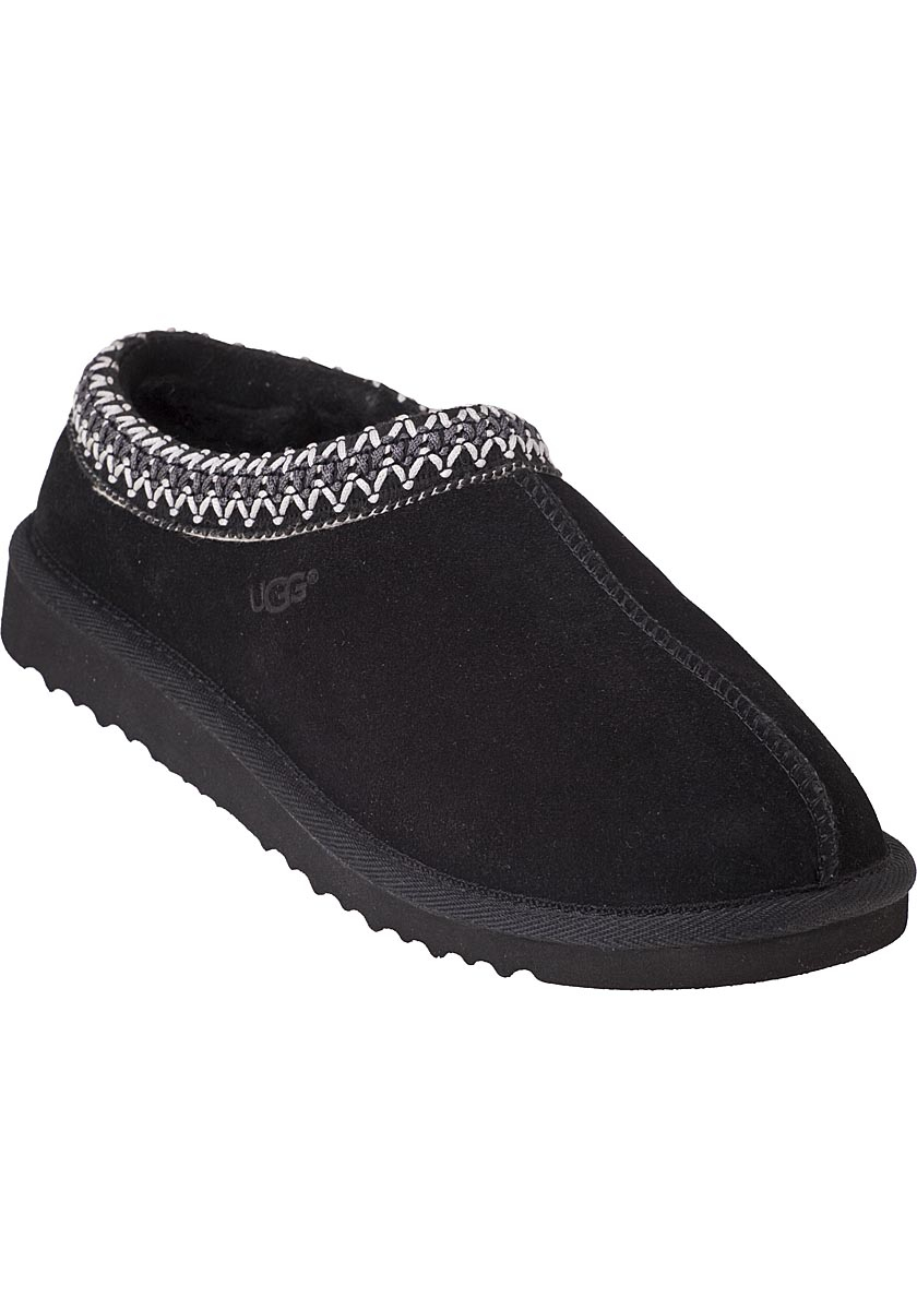 Ugg Tasman Slipper Black Suede In Black Lyst