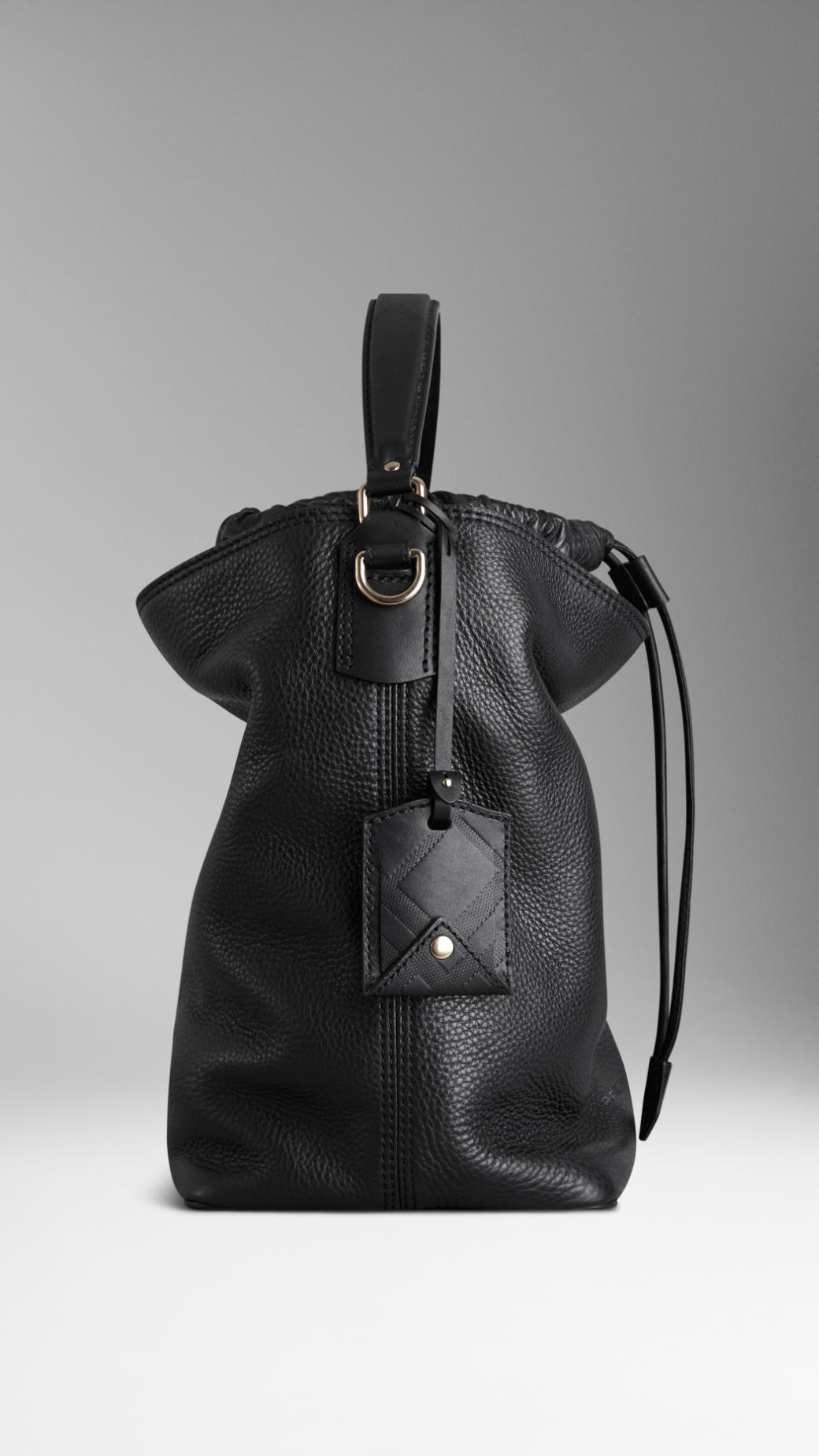 46ded4dcf1e9 Lyst - Burberry The Medium Ashby Leather Hobo in Black