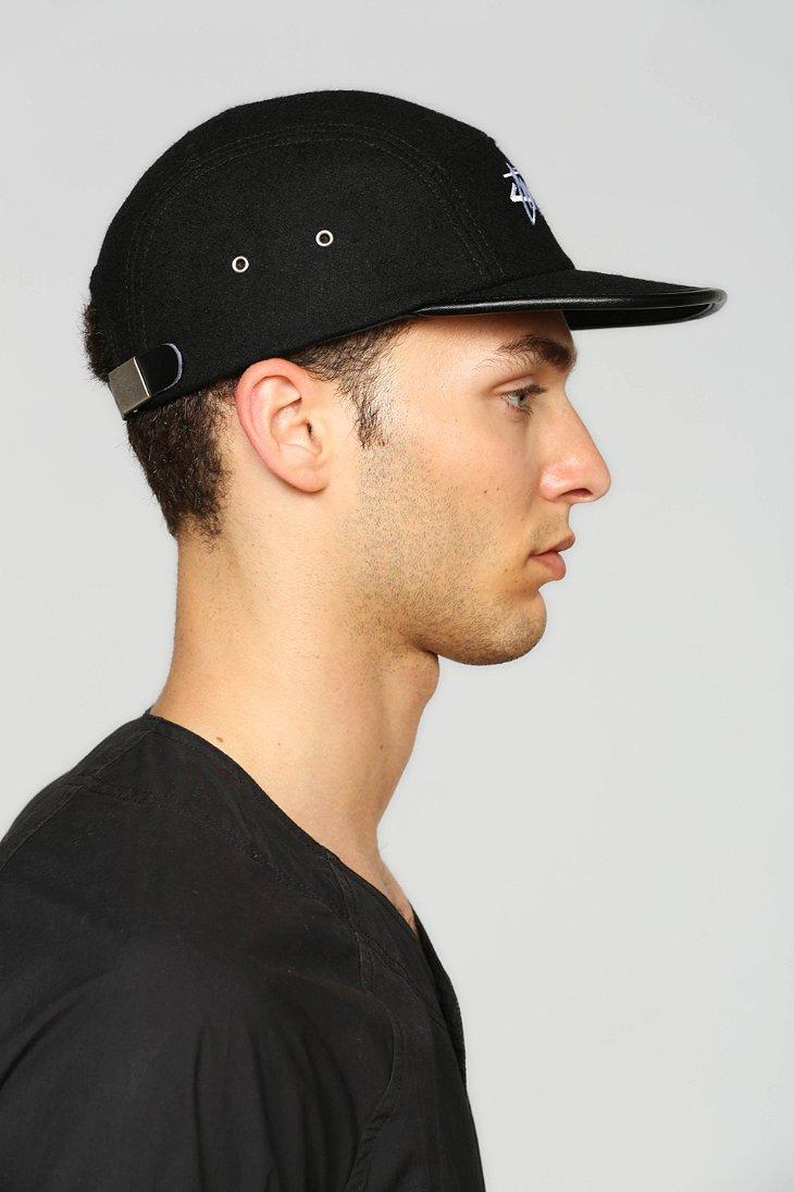 Lyst - Stussy Melton Wool 5-Panel Hat in Black for Men 77757b77ab8