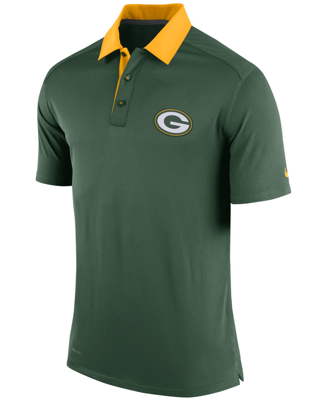 Lyst - Nike Men's Green Bay Packers Elite Coaches Polo in Green for Men