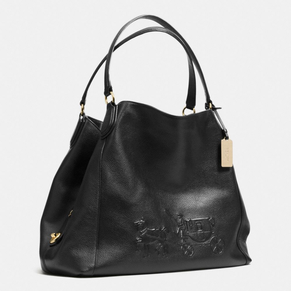 97c36c1a3d ... top quality lyst coach embossed horse and carriage large edie shoulder  bag in 560ee 7915d