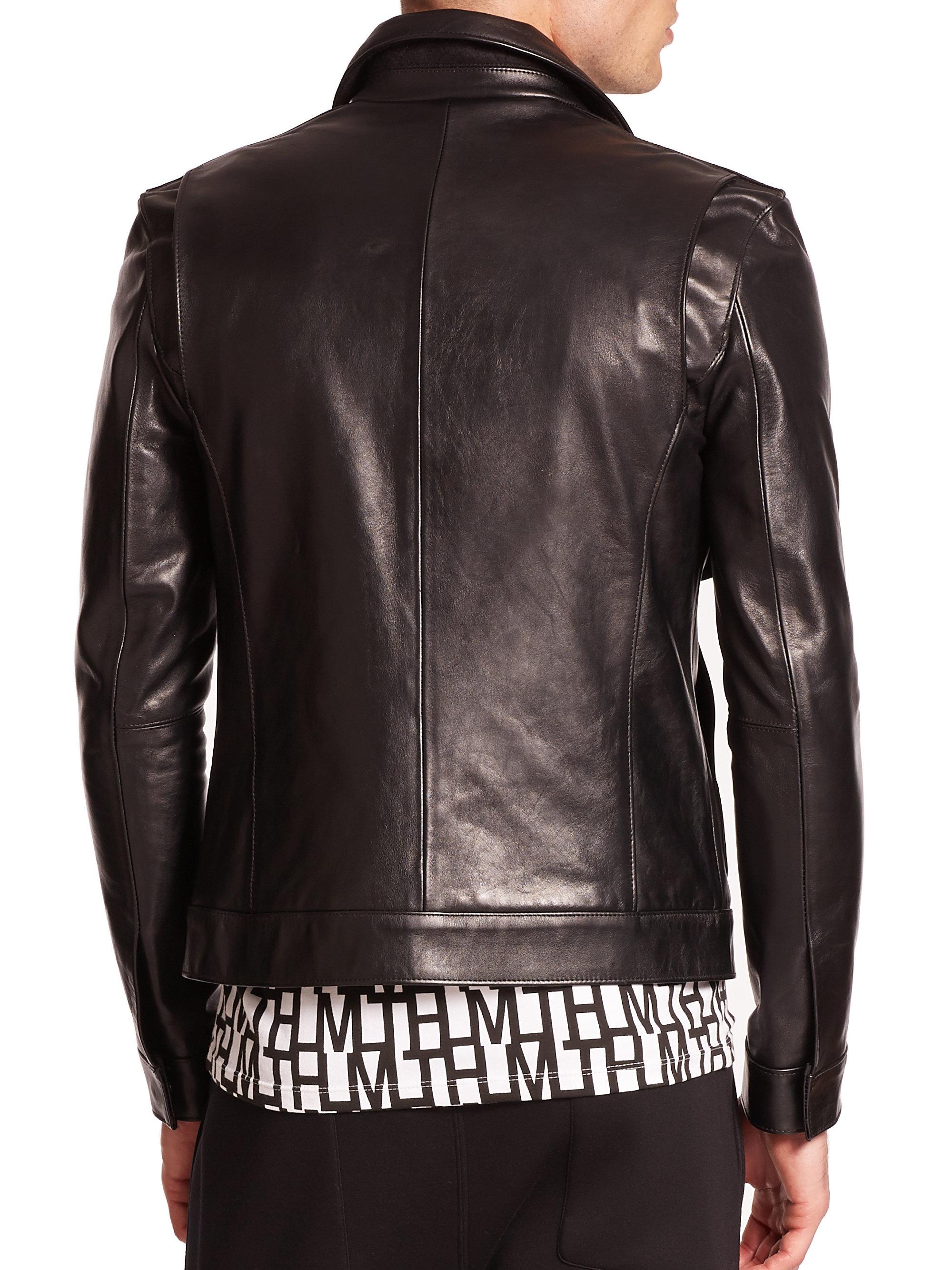 Lyst Helmut Lang Leather Aviator Jacket In Black For Men