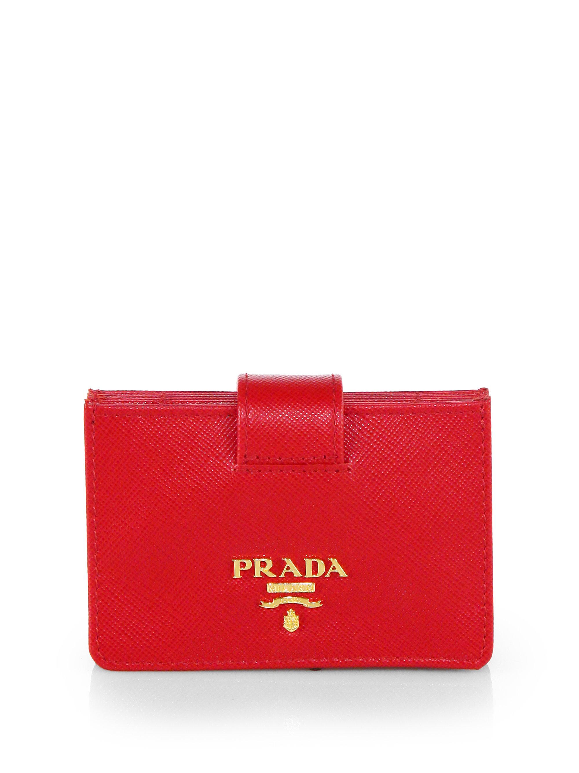 Lyst - Prada Saffiano Accordion Card Case in Red
