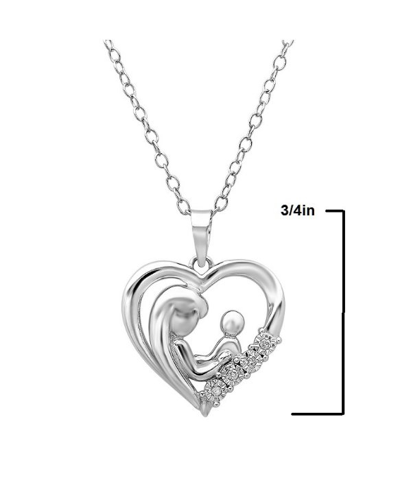 Lyst amanda rose collection mother child diamond heart pendant gallery aloadofball Image collections