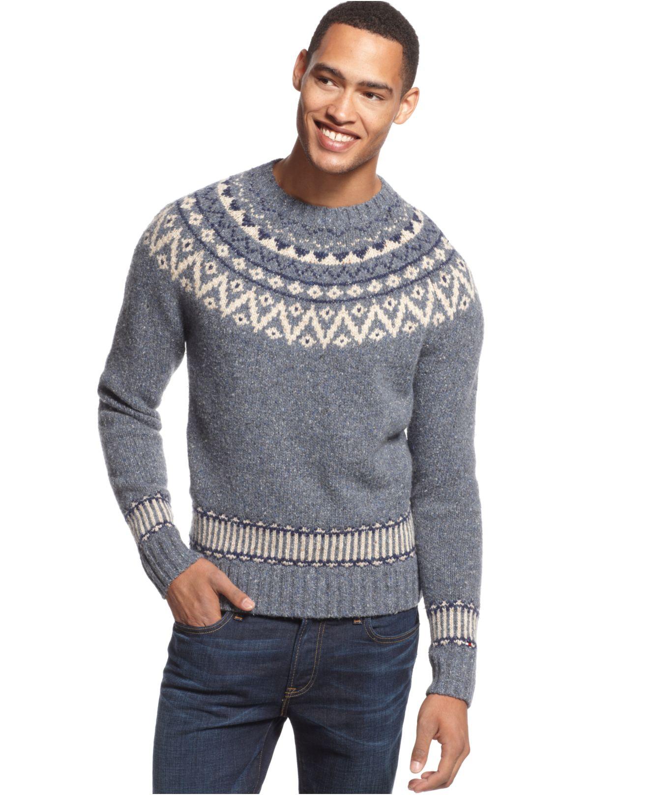 Tommy hilfiger Pelham Fair Isle Sweater in Blue for Men | Lyst