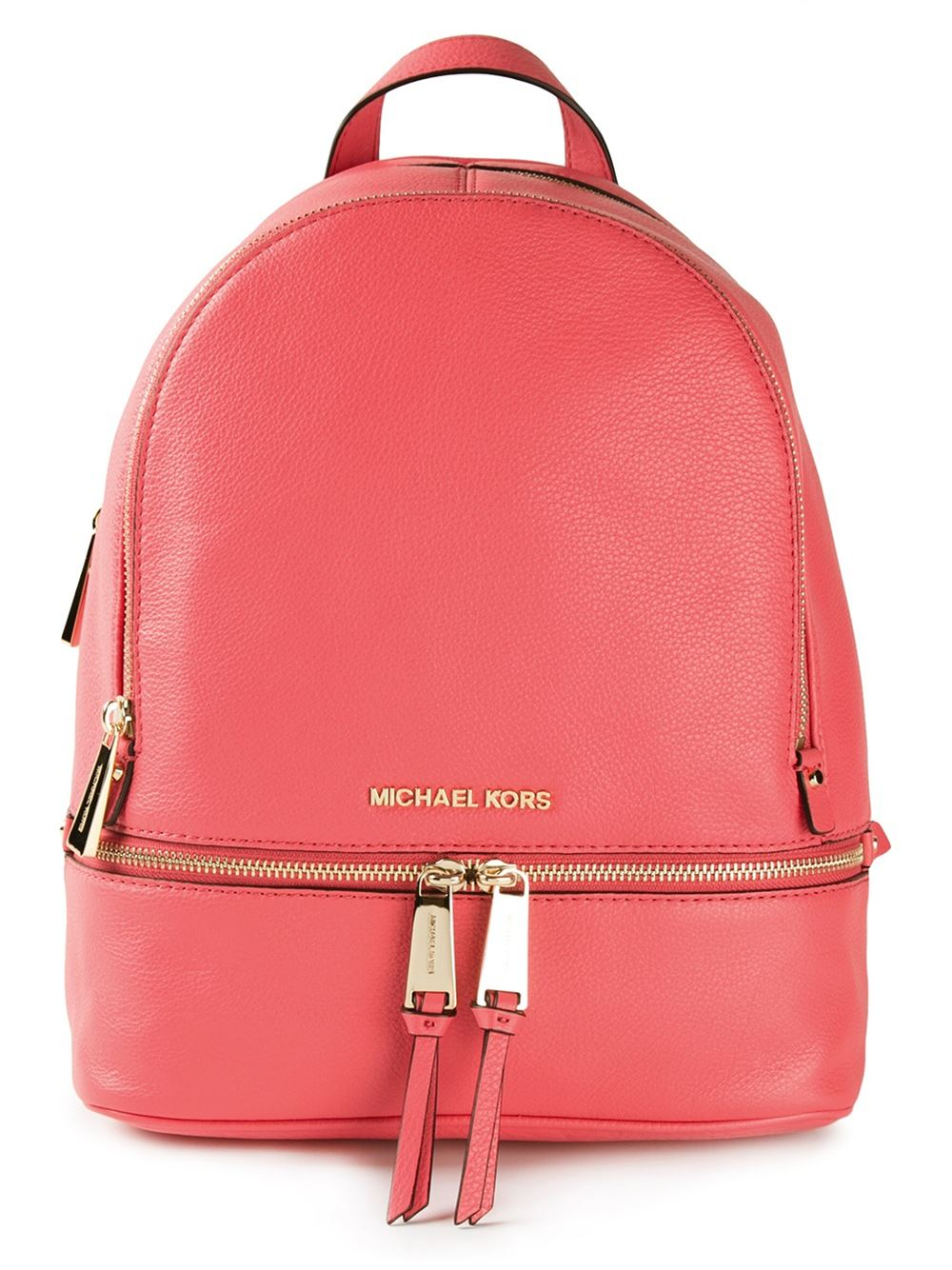 00984505d7f0 ... top quality lyst michael kors rhea backpack in red 5ace7 4416d