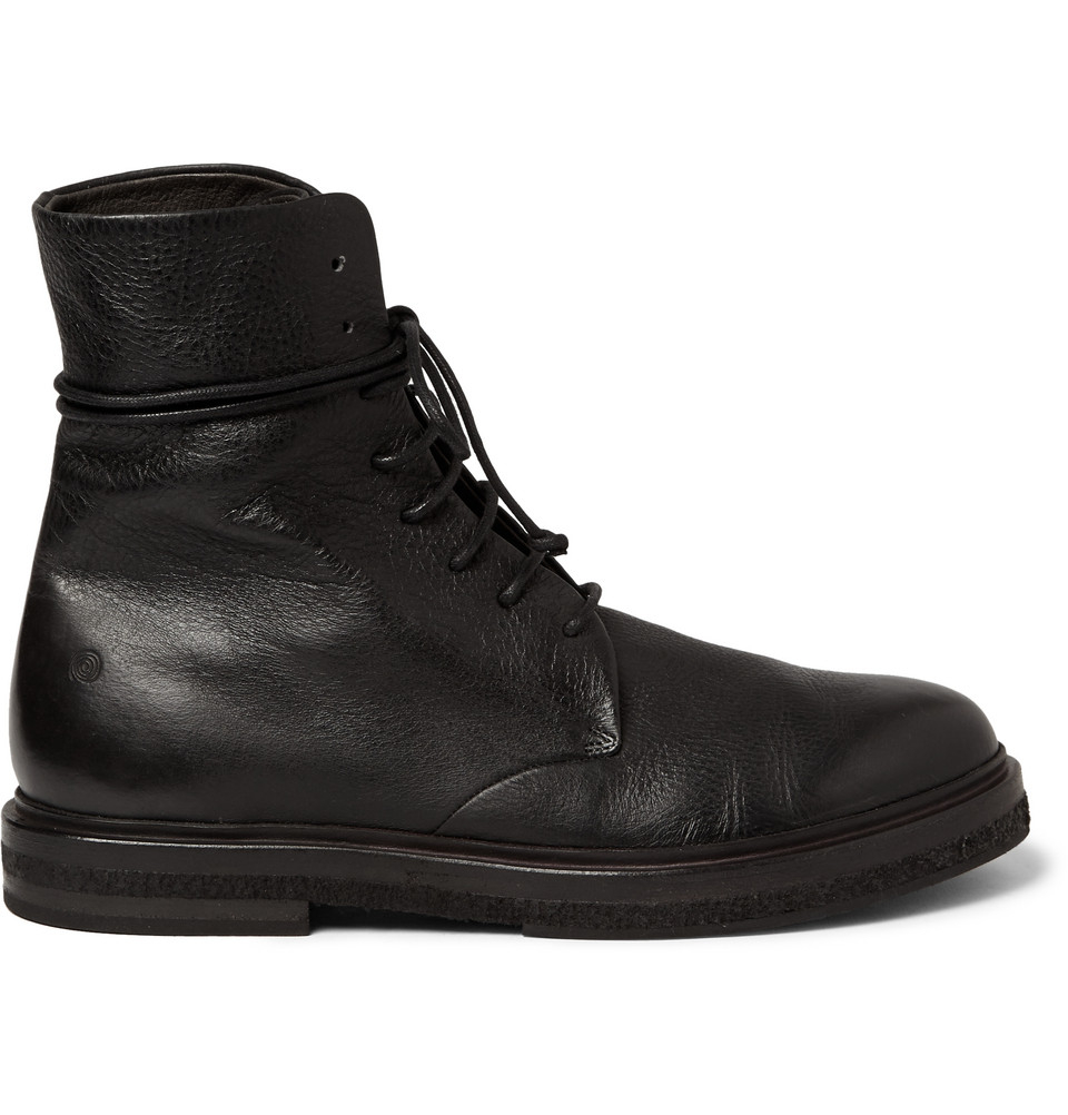 Marsèll Full-Grain Leather Lace-Up Boots in Gray for Men | Lyst