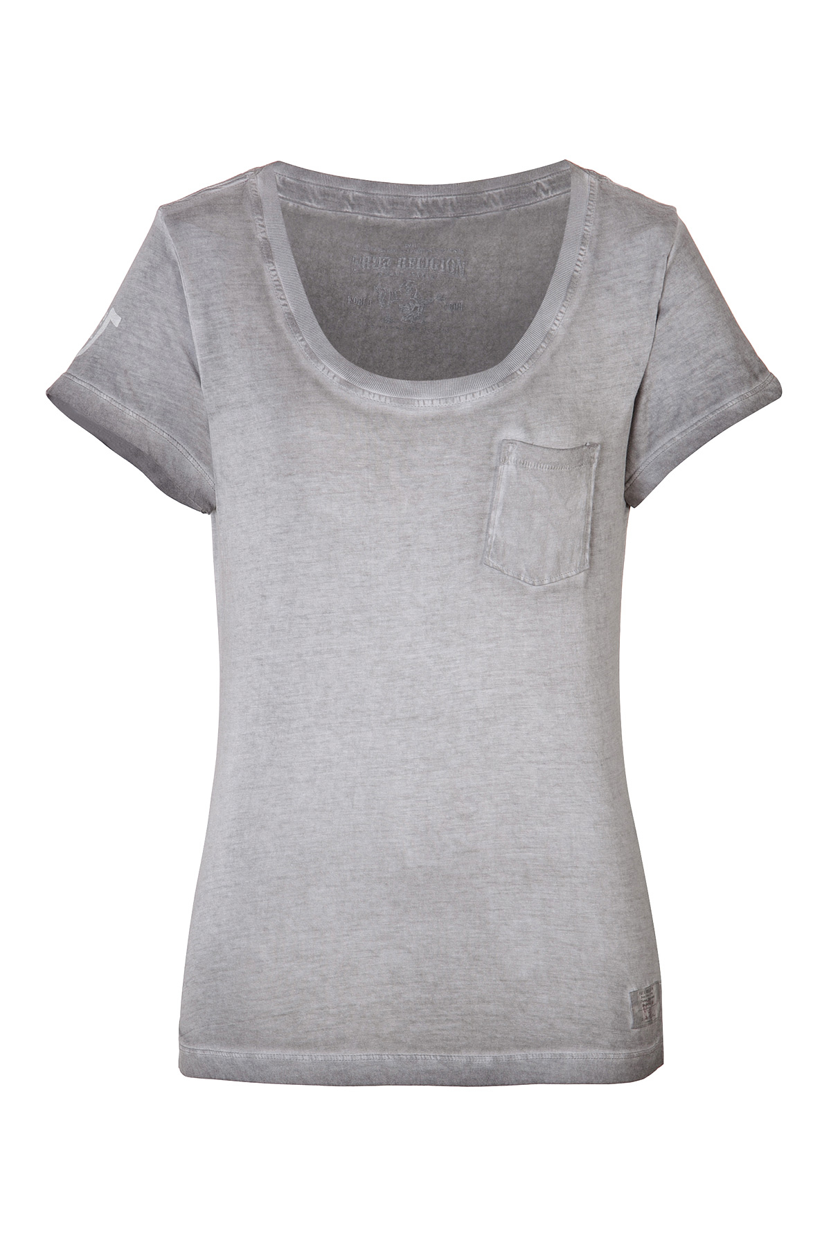 True religion cotton jersey faded t shirt in gray lyst for Faded color t shirts