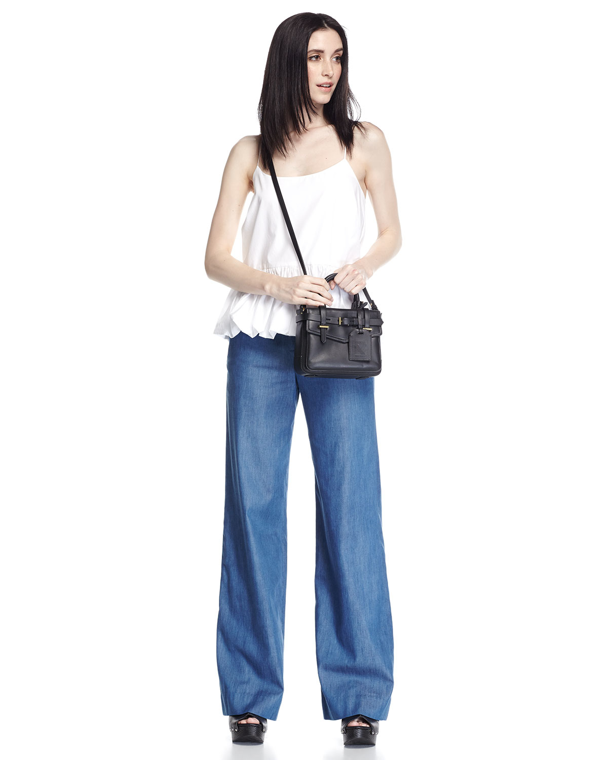 F.t.b by fade to blue High-waist Wide-leg Jeans in Blue | Lyst
