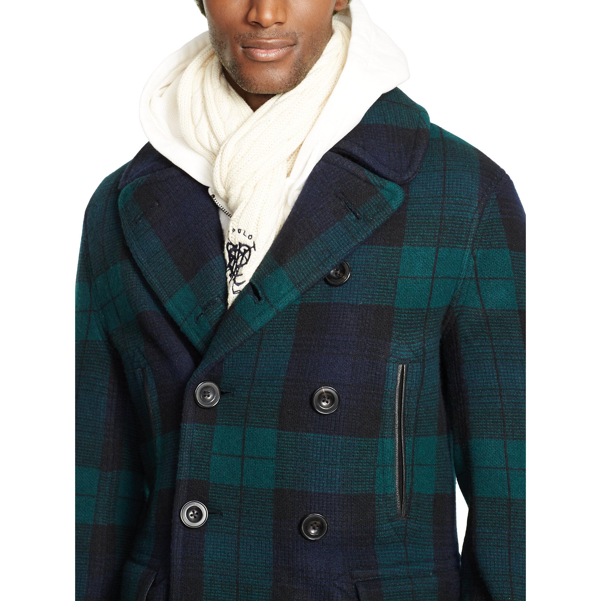 Polo Ralph Lauren Blackwatch Pea Coat Sweater In Green For