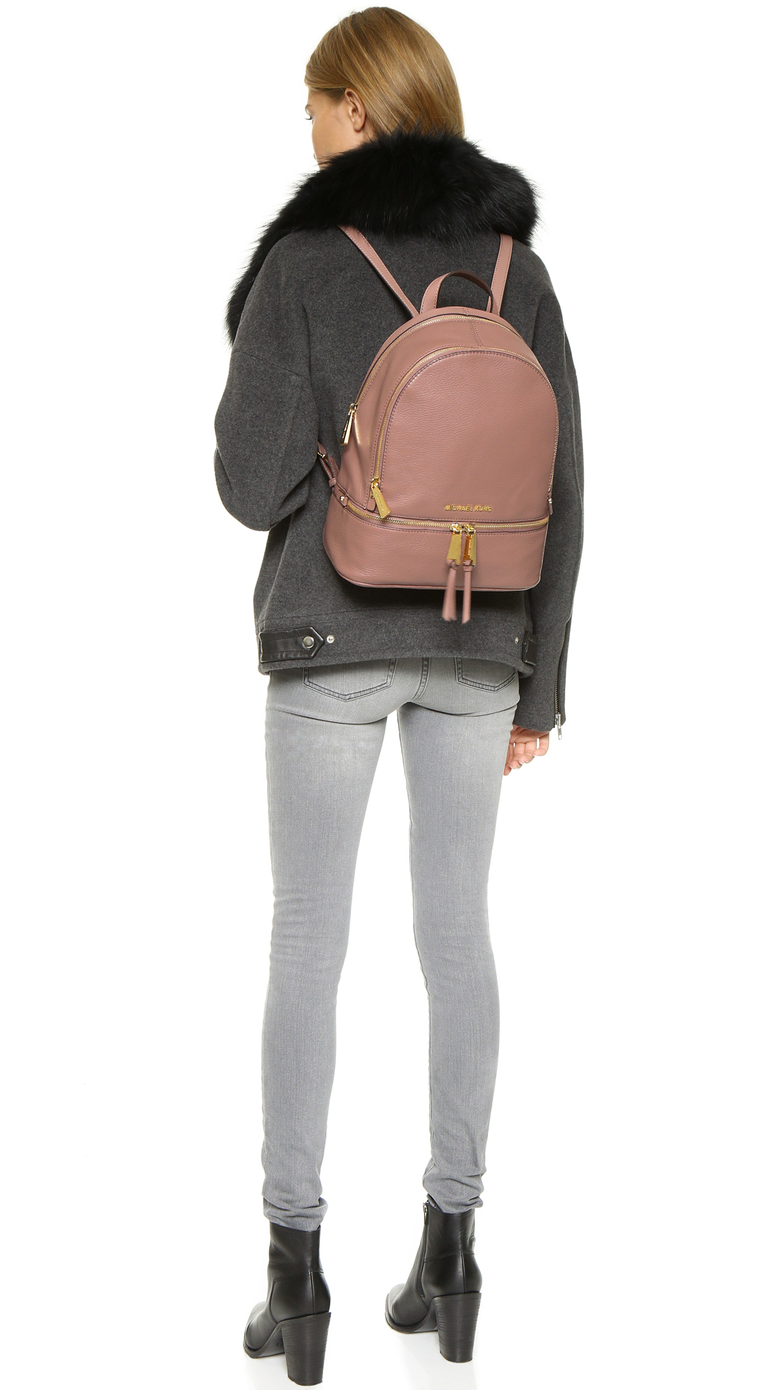 b459b6abe31f Lyst - MICHAEL Michael Kors Rhea Backpack - Navy in Pink