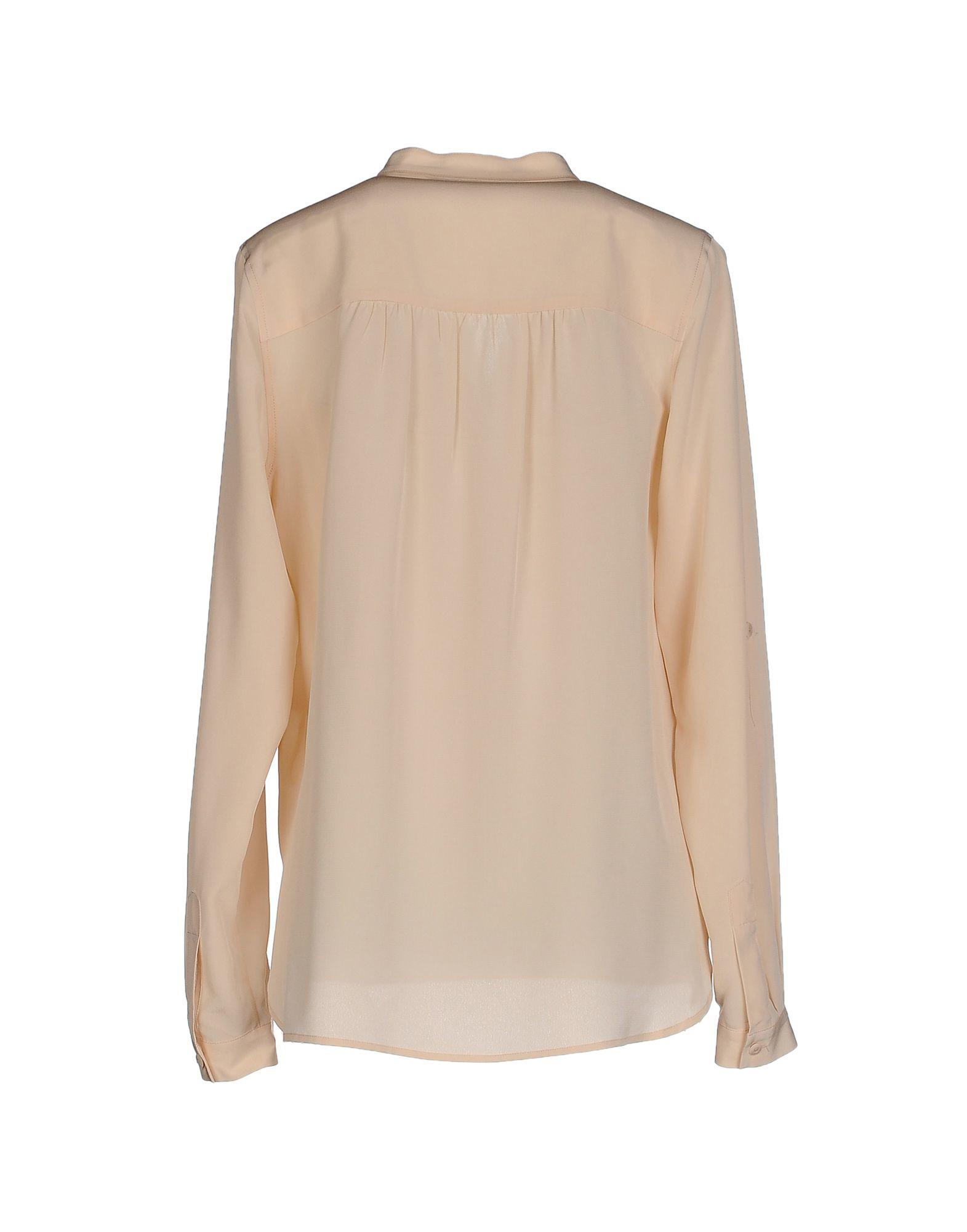 Diane von furstenberg shirt in beige lyst for Diane von furstenberg shirt