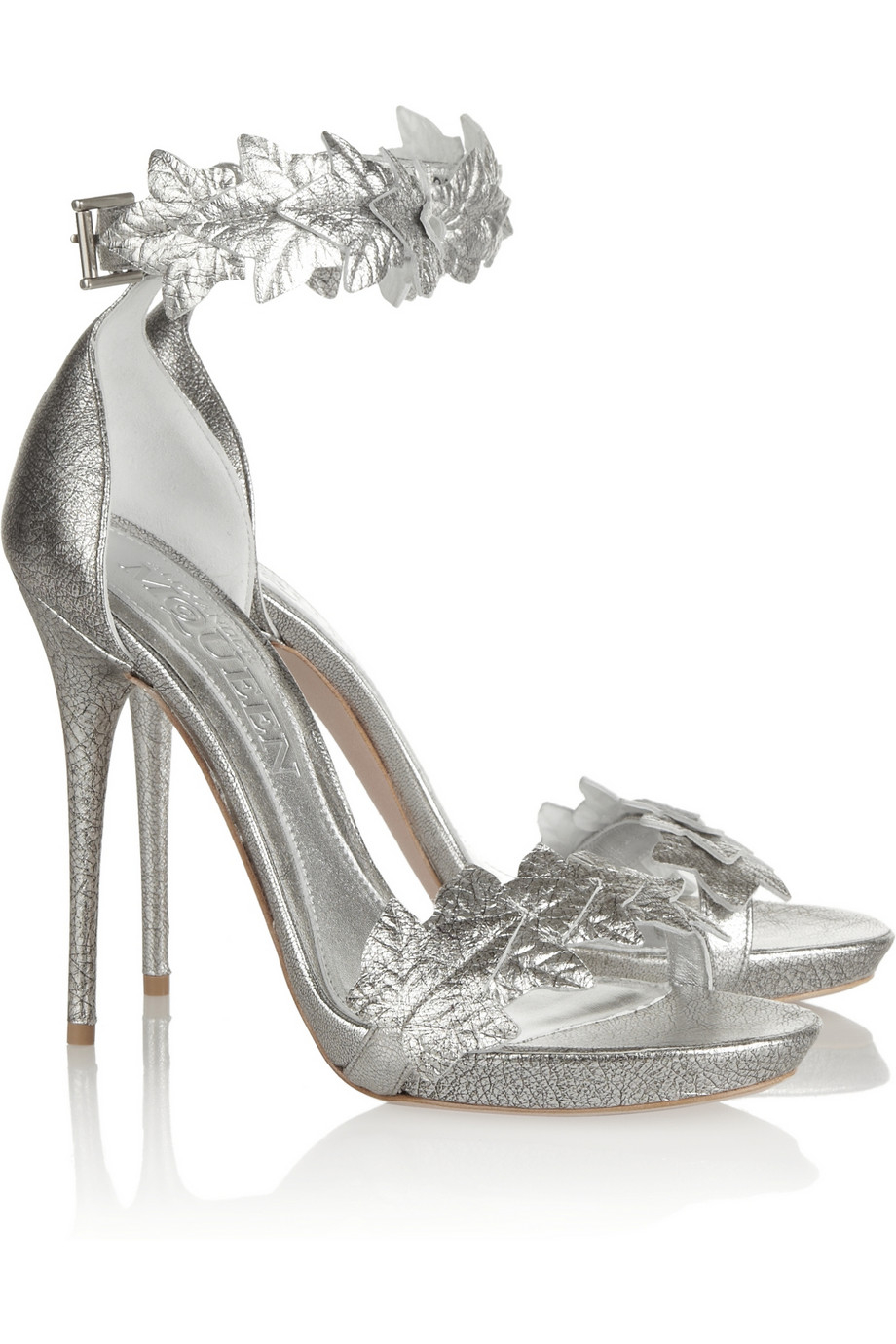 Alexander McQueen Metallic Leather Pumps cheap very cheap nrZjHt4XY
