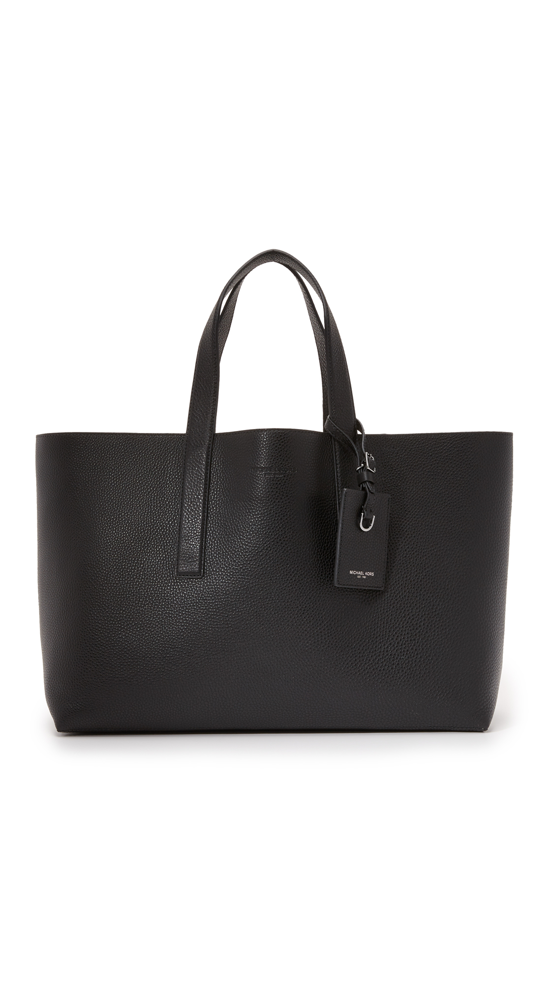 c0ddfbe582dccb Michael Kors Mason East West Reversible Leather Tote in Black for ...