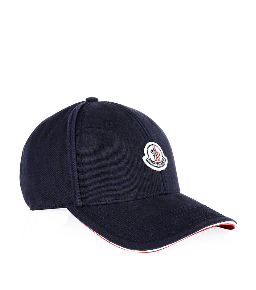 5634b778572 Moncler Badge Cap in Blue for Men - Lyst