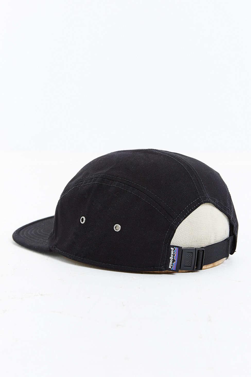 Lyst - Patagonia Retro Fitz Roy Label 5-panel Baseball Hat in Black ... 7244f05cb56
